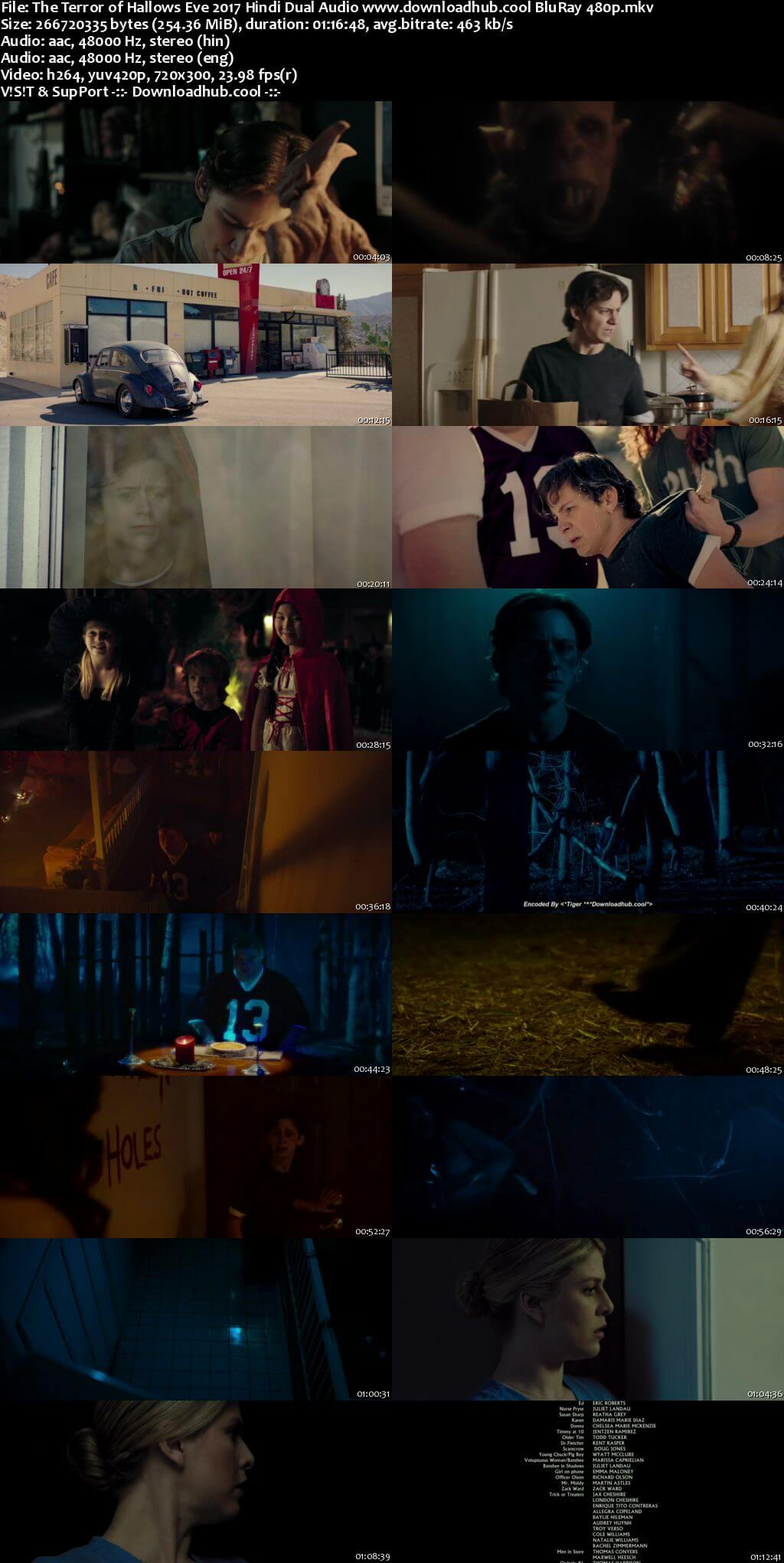 The Terror of Hallows Eve 2017 Hindi Dual Audio 250MB BluRay 480p