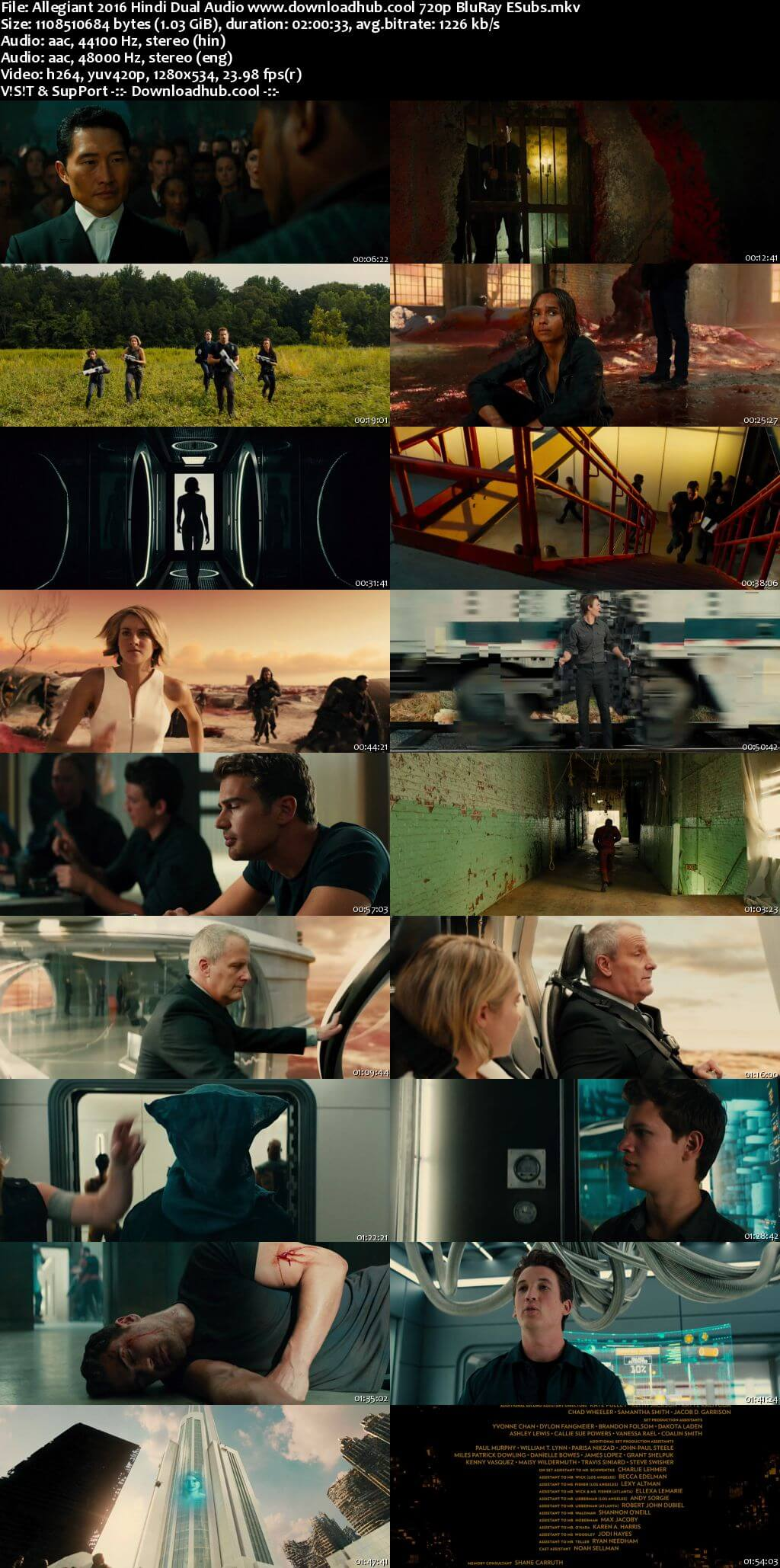Allegiant 2016 Hindi Dual Audio 720p BluRay ESubs