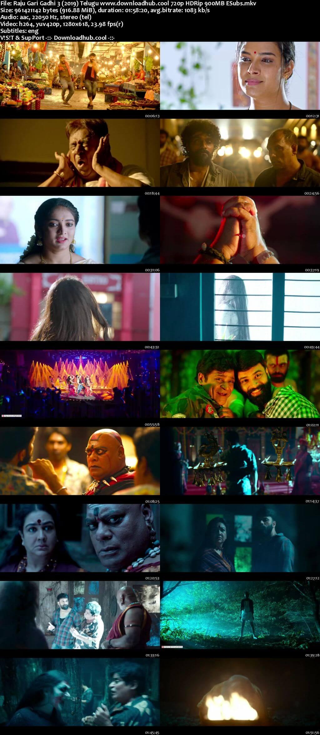 Raju Gari Gadhi 3 2019 Telugu 720p HDRip ESubs