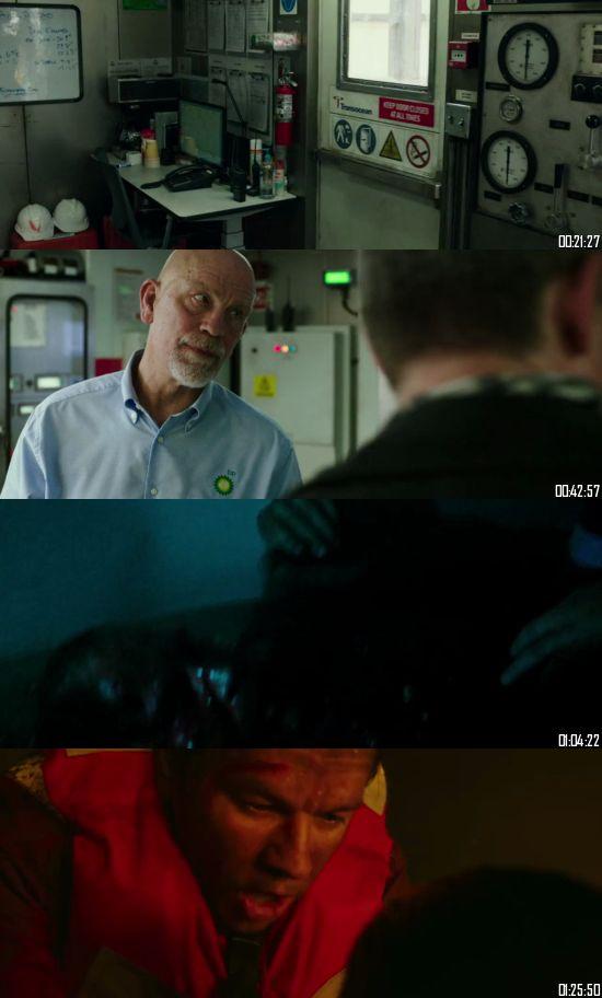 Deepwater Horizon 2016 BluRay 720p 480p Dual Audio Hindi English Full Movie Download