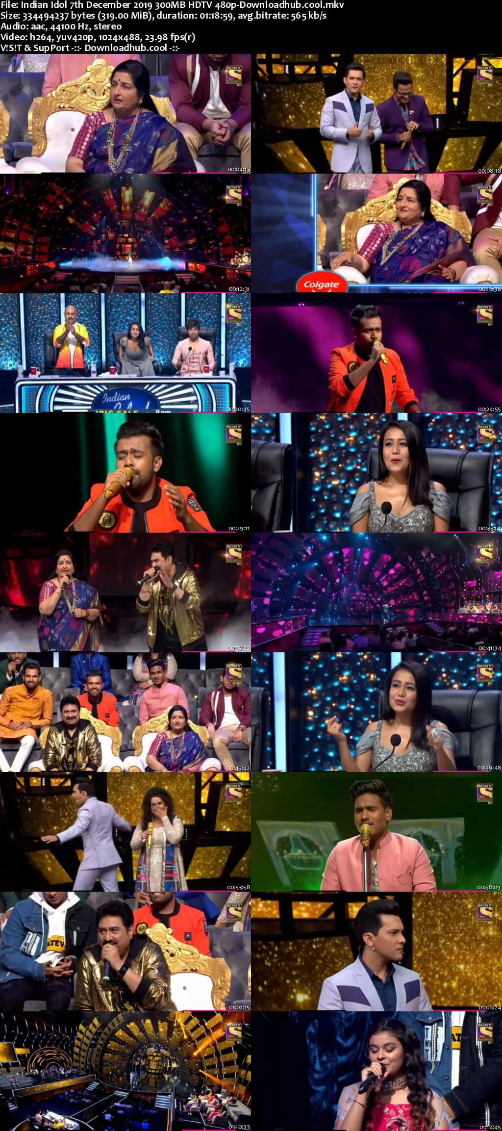 Indian Idol 07 December 2019 Episode 17 HDTV 480p