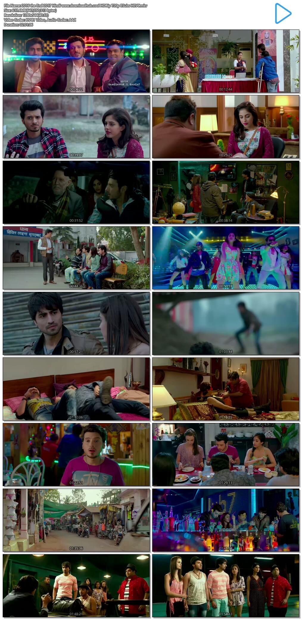 2016 the End 2017 Hindi 600MB HDRip 720p ESubs HEVC