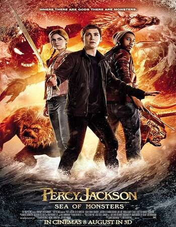 Percy Jackson Sea of Monsters 2013 Hindi Dual Audio 550MB BluRay 720p ESubs HEVC