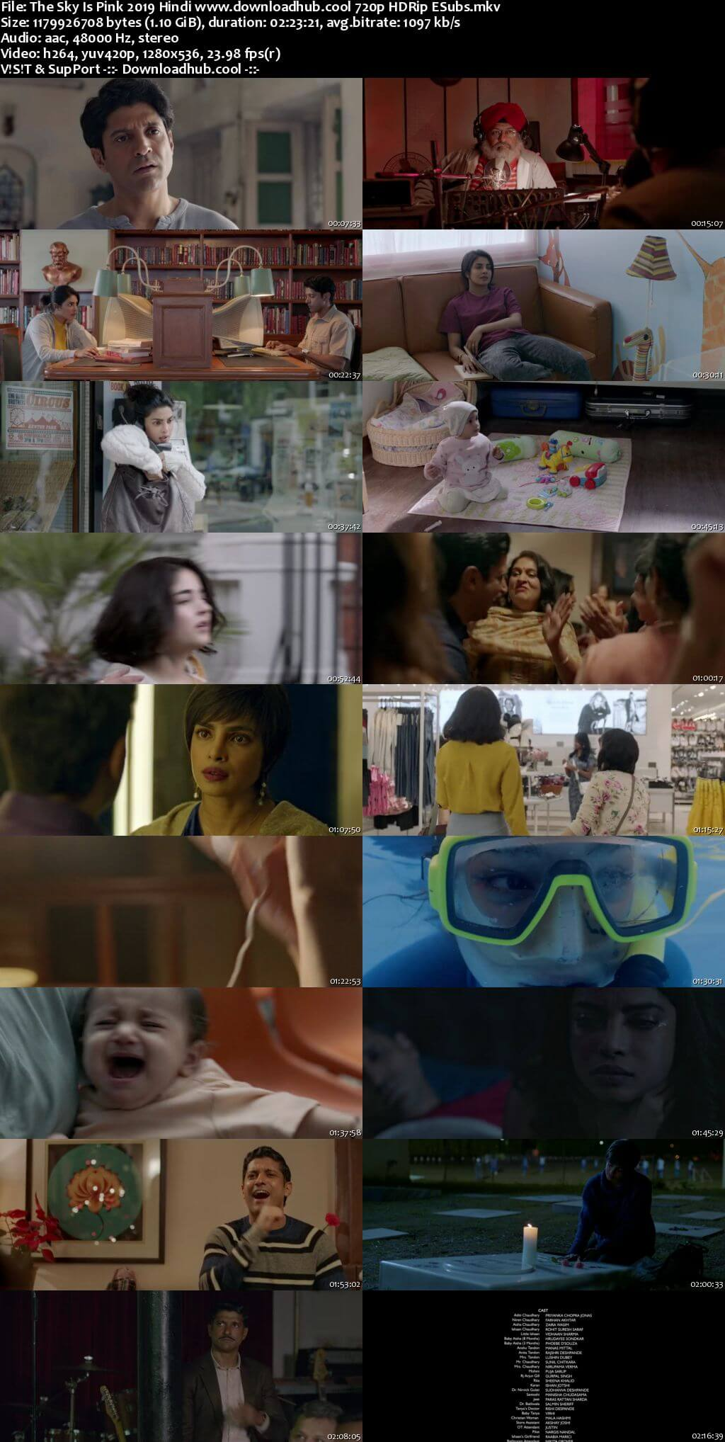 The Sky Is Pink 2019 Hindi 720p HDRip ESubs