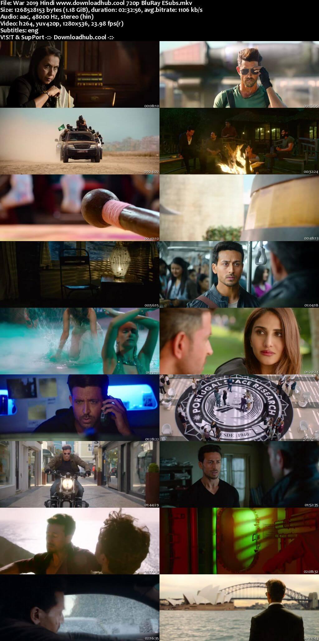 War 2019 Hindi 720p BluRay ESubs