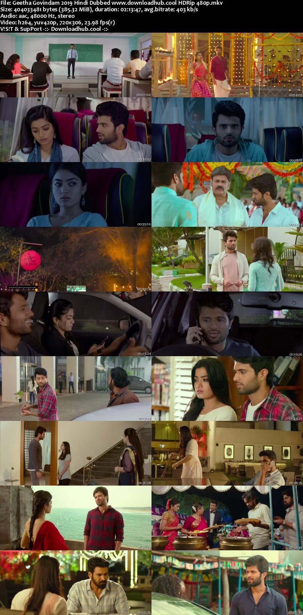 Geetha Govindam 2019 Hindi Dubbed 350MB HDRip 480p