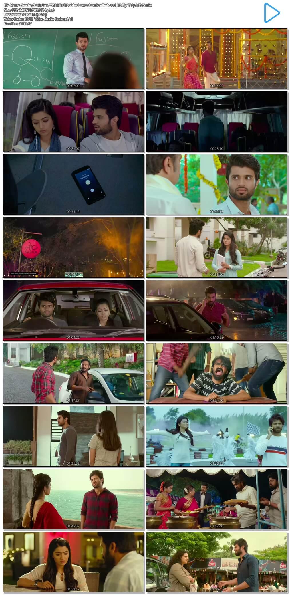 Geetha Govindam 2019 Hindi Dubbed 650MB HDRip 720p HEVC