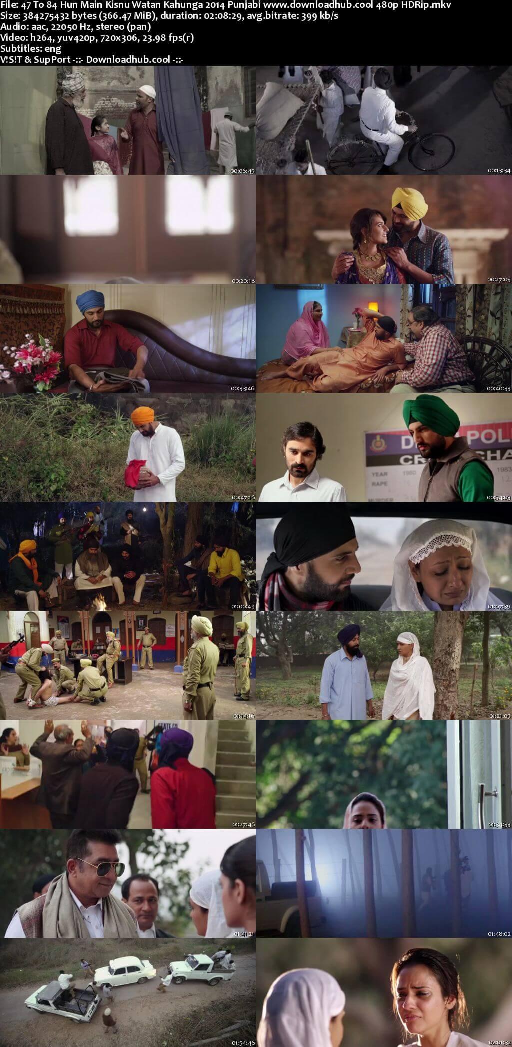 47 to 84 Hun Main Kisnu Watan Kahunga 2014 Punjabi 350MB HDRip 480p ESubs