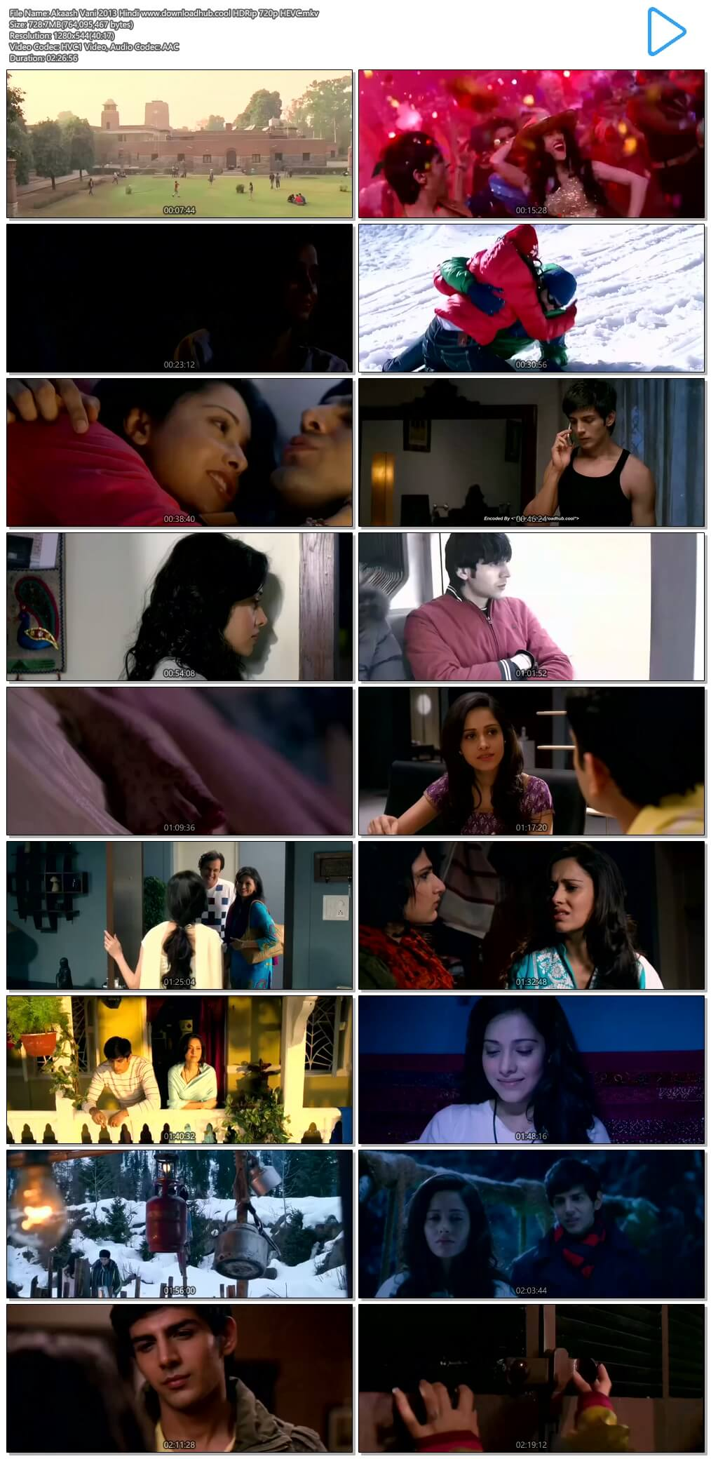 Akaash Vani 2013 Hindi 700MB HDRip 720p HEVC