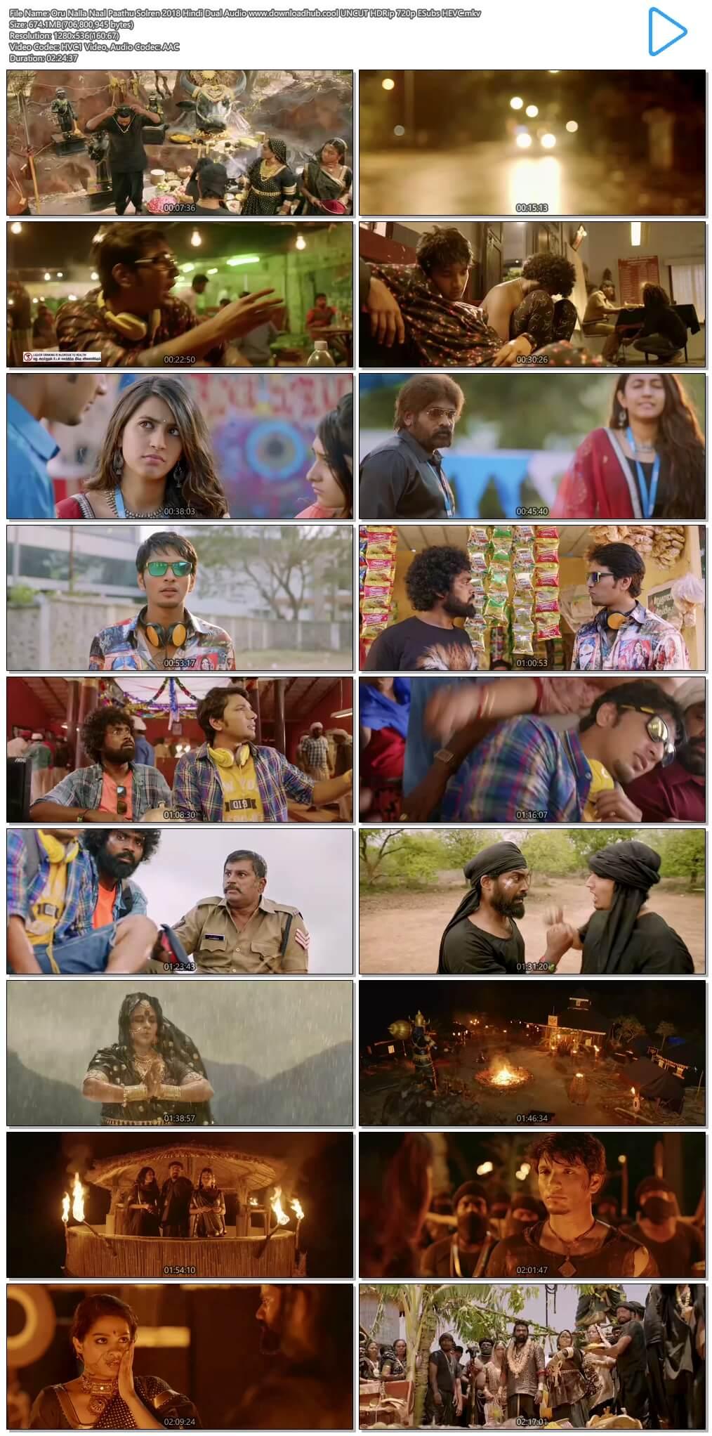 Oru Nalla Naal Paathu Solren 2018 Hindi Dual Audio 650MB UNCUT HDRip 720p ESubs HEVC