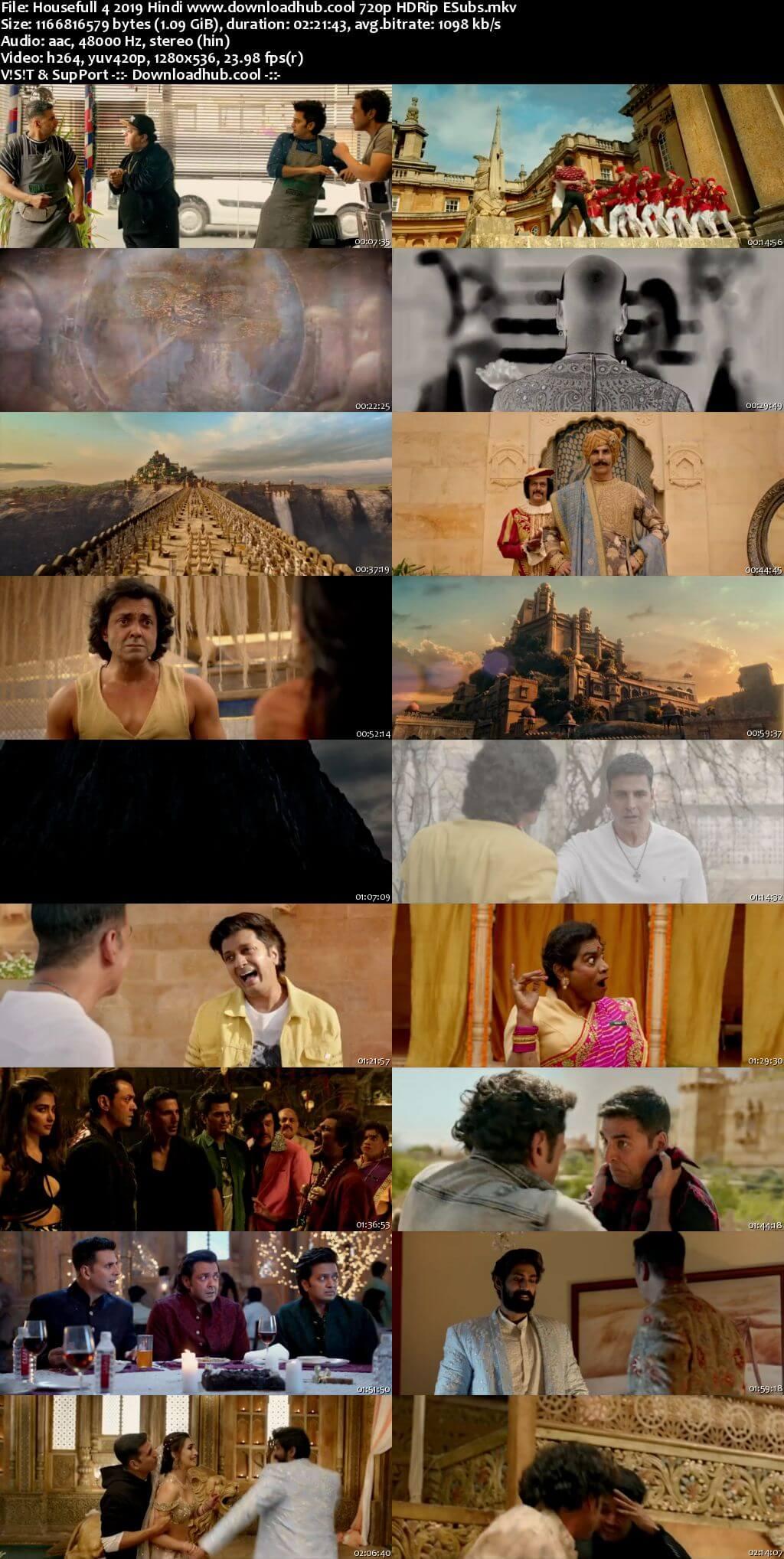 Housefull 4 2019 Hindi 720p HDRip ESubs
