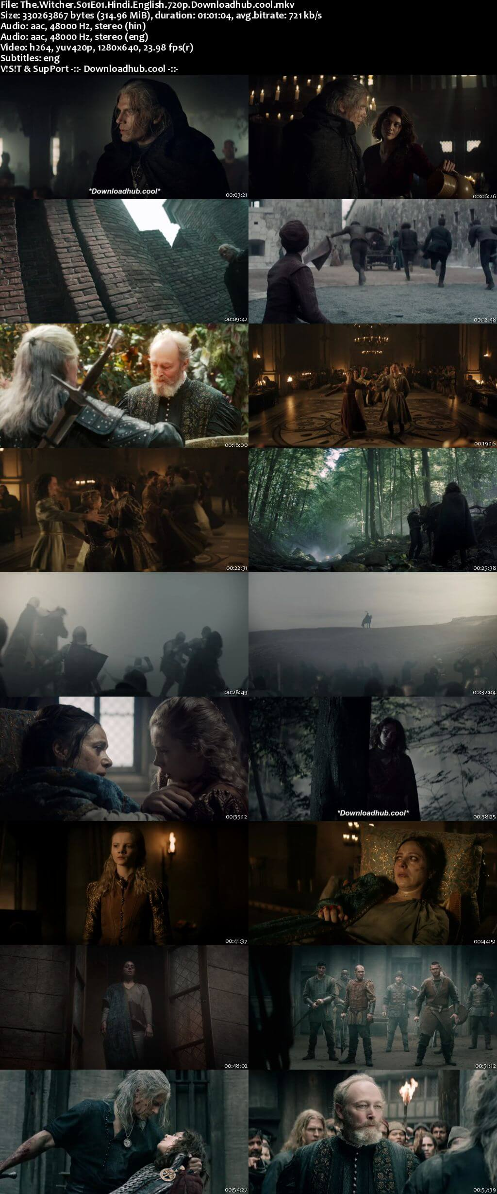 The Witcher S01 Complete Hindi Dual Audio 720p Web-DL ESubs