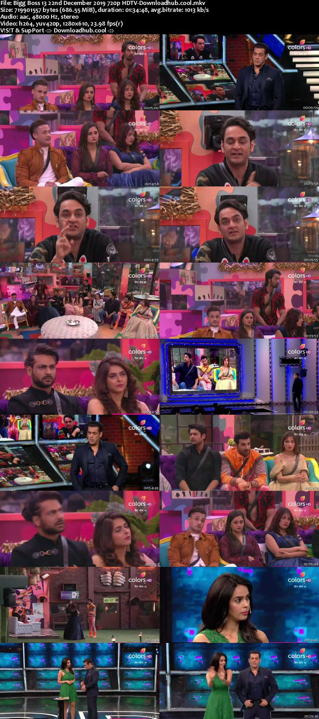 Bigg Boss 13 22 December 2019 Episode 83 HDTV 720p 480p