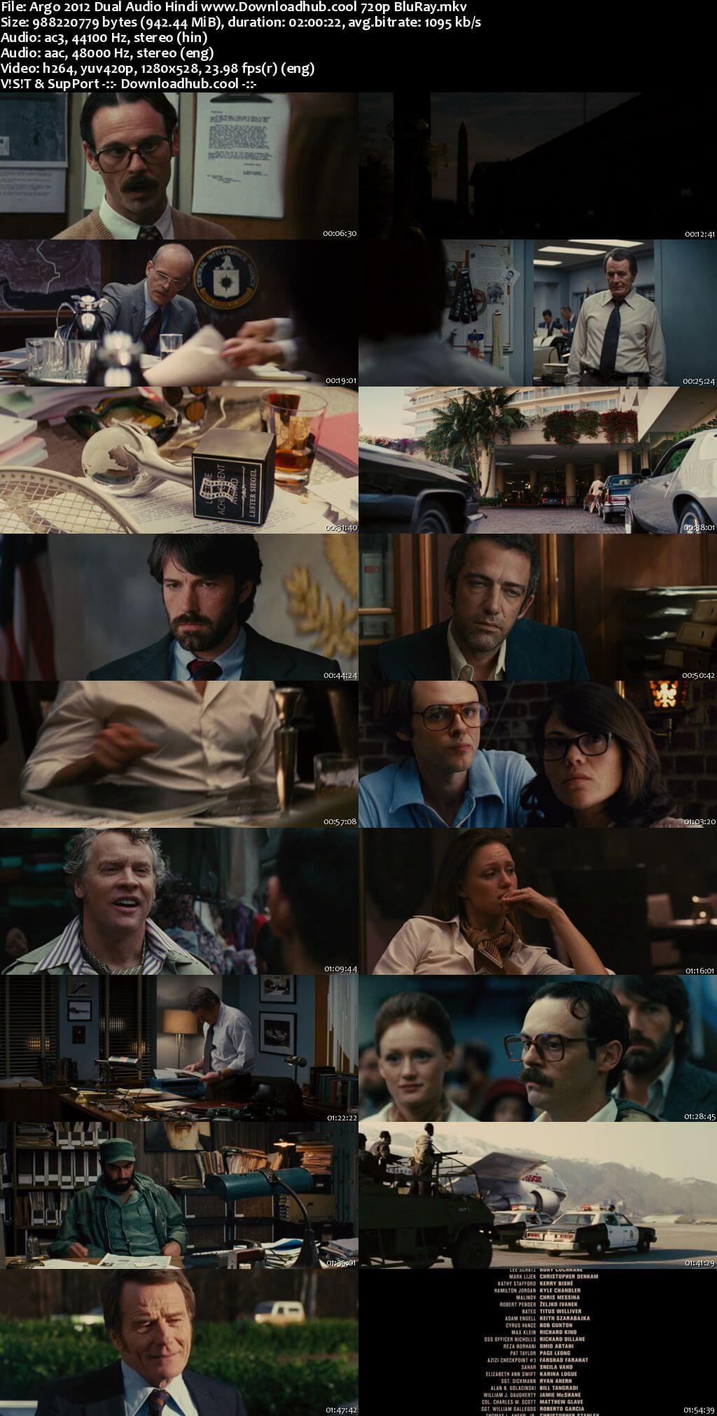 Argo 2012 Hindi Dual Audio 720p BluRay x264