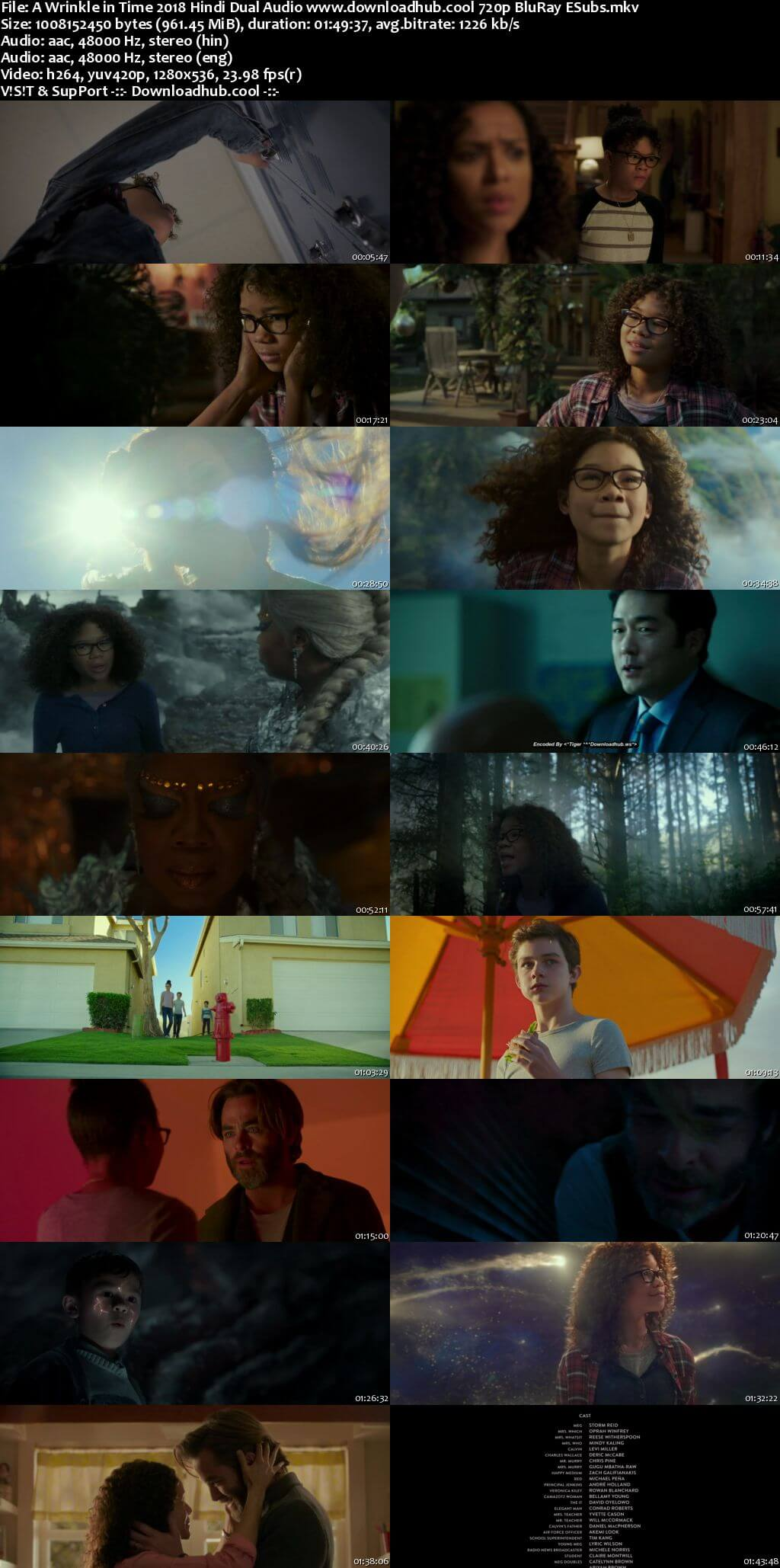 A Wrinkle in Time 2018 Hindi Dual Audio 720p BluRay ESubs