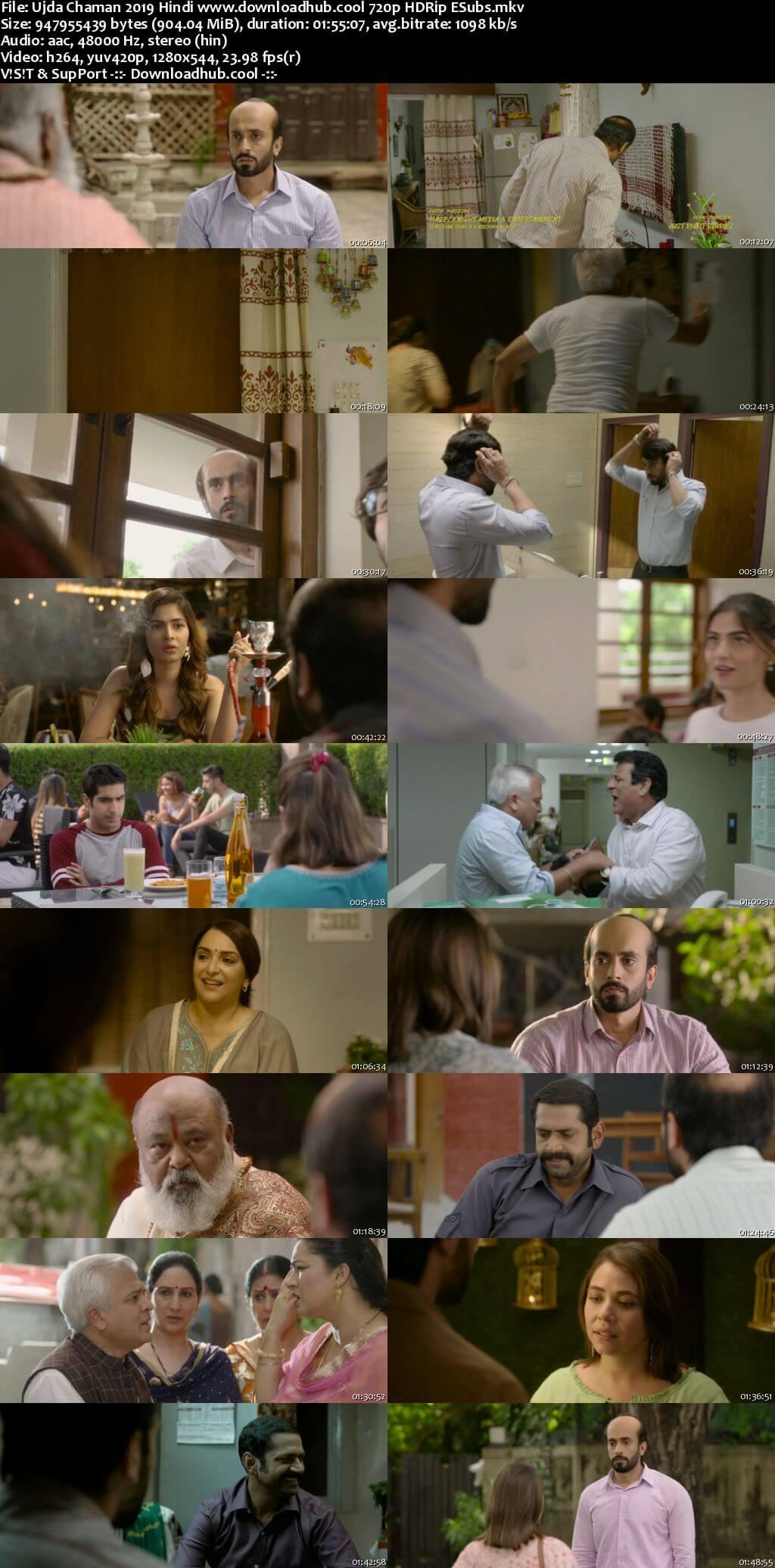 Ujda Chaman 2019 Hindi 720p HDRip ESubs
