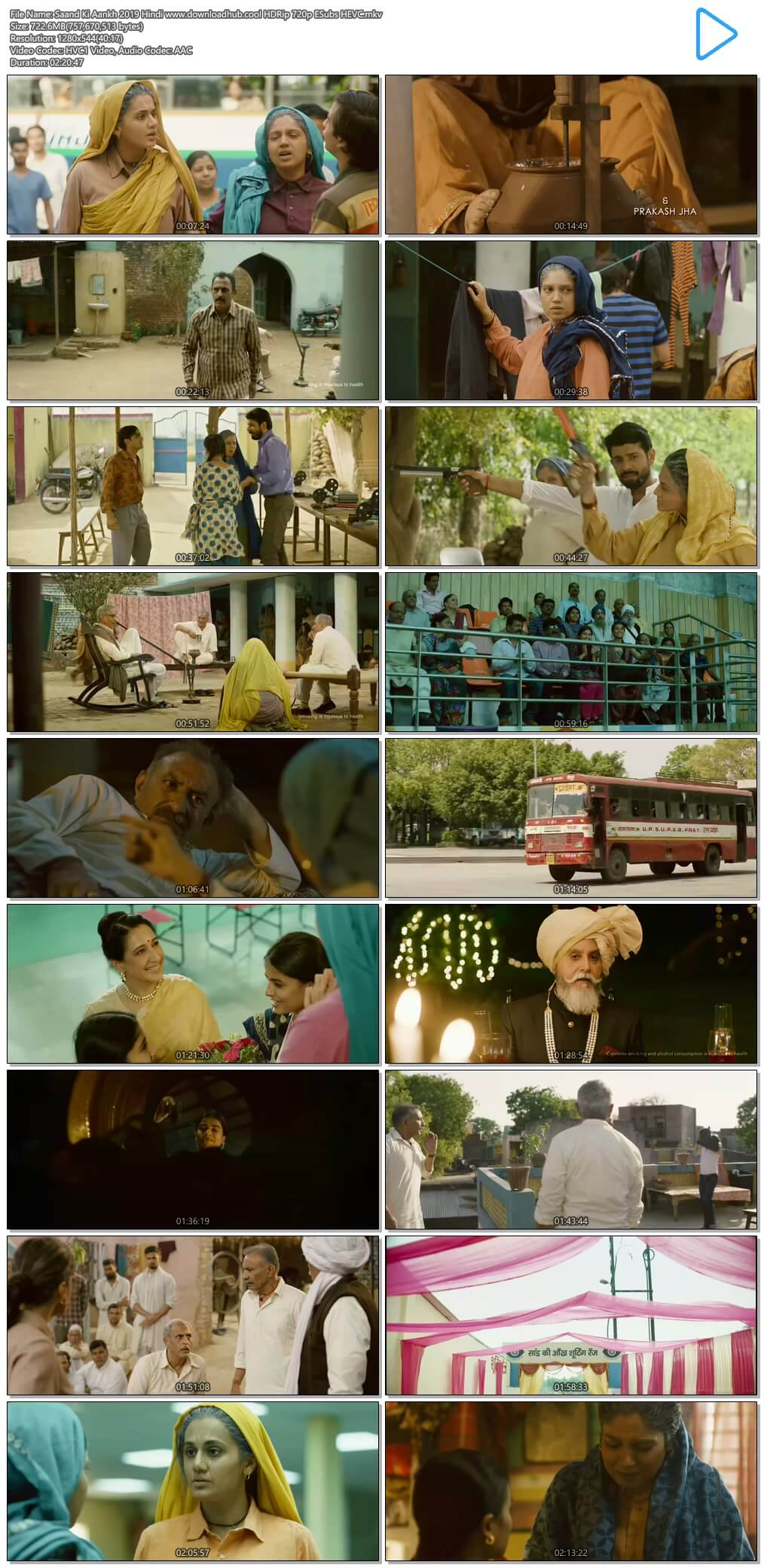Saand Ki Aankh 2019 Hindi 700MB HDRip 720p ESubs HEVC