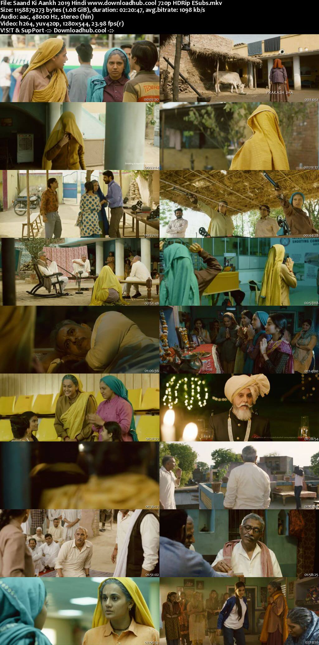 Saand Ki Aankh 2019 Hindi 720p HDRip ESubs
