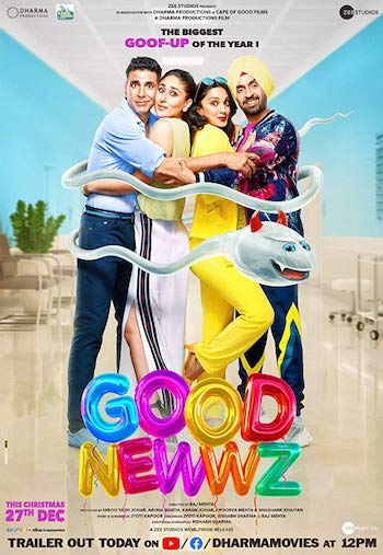 Good Newwz 2019 Full Movie Download 300MB 480p HDRip