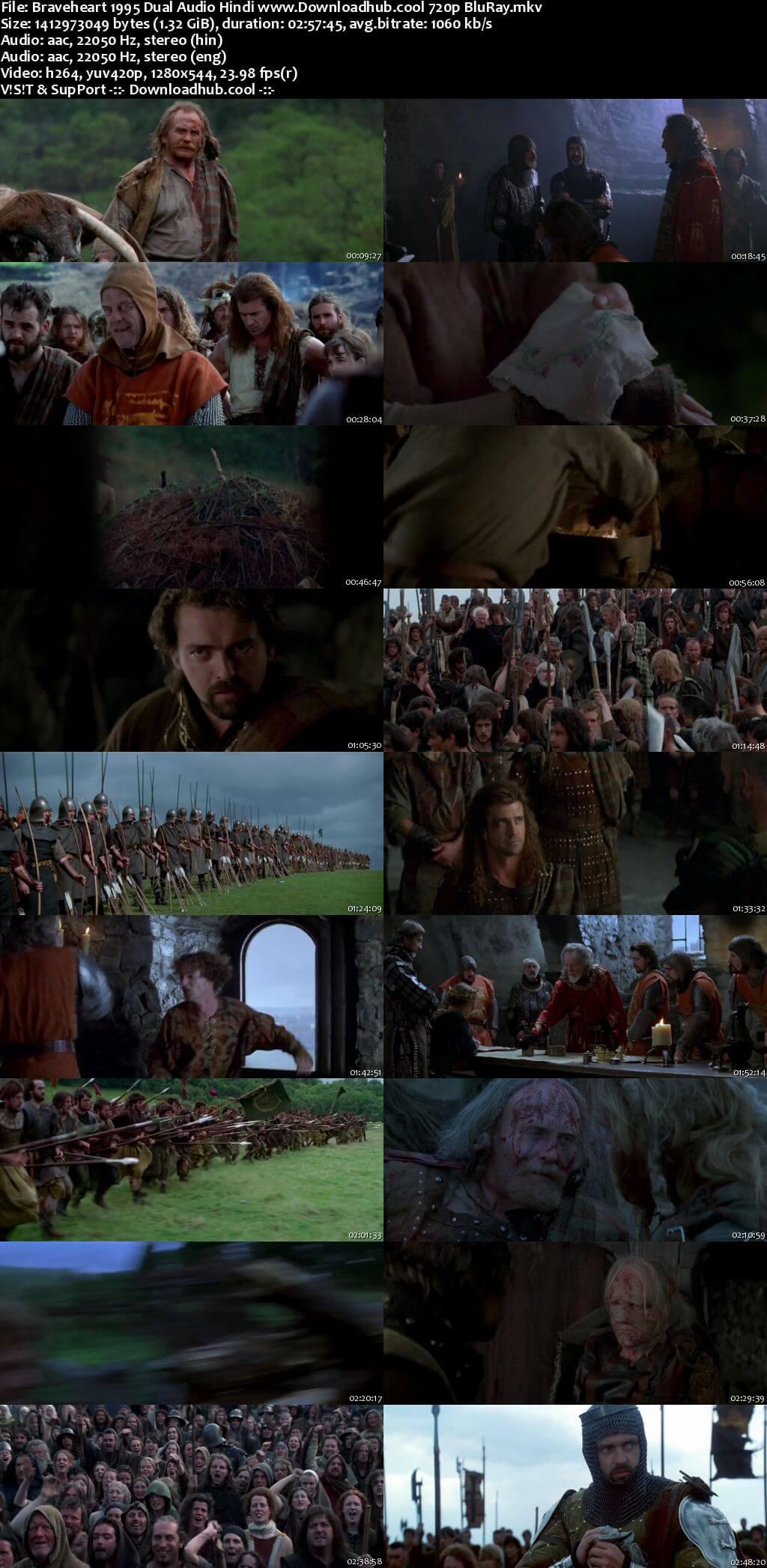 Braveheart 1995 Hindi Dual Audio 720p BluRay x264