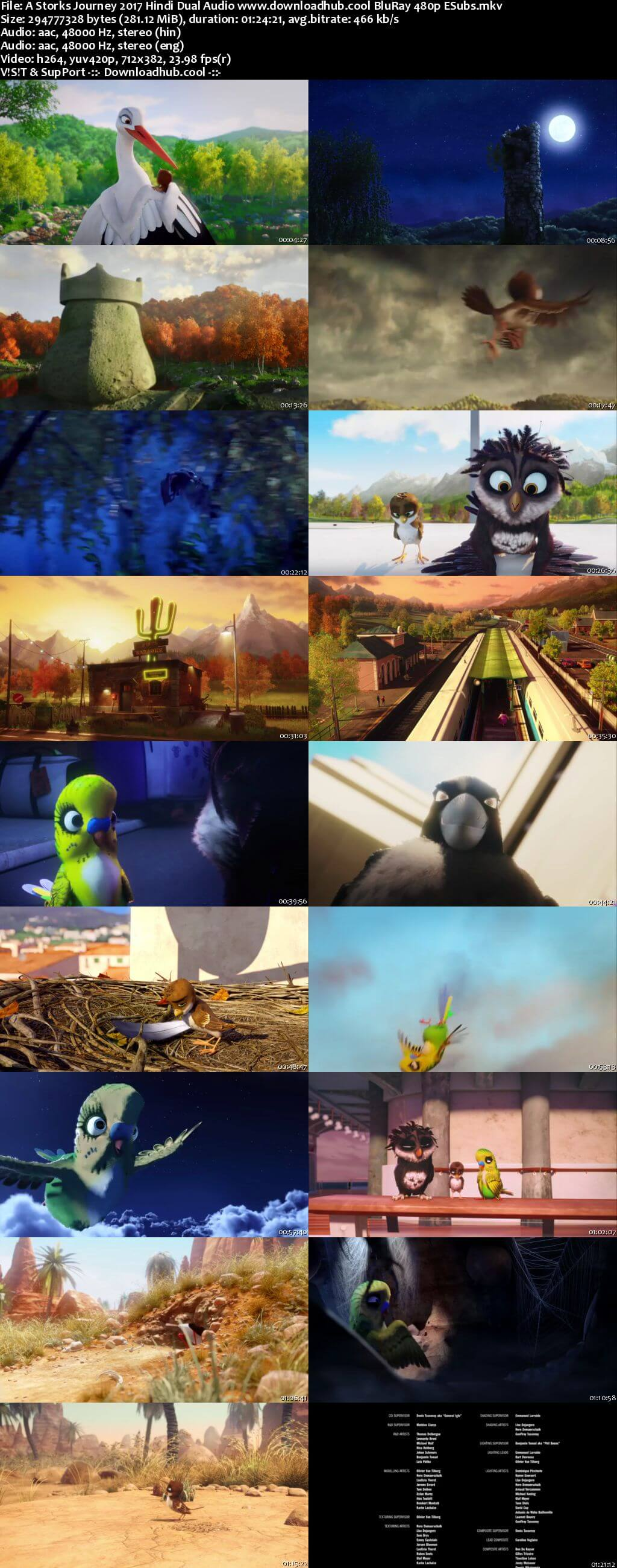 A Storks Journey 2017 Hindi Dual Audio 280MB BluRay 480p ESubs