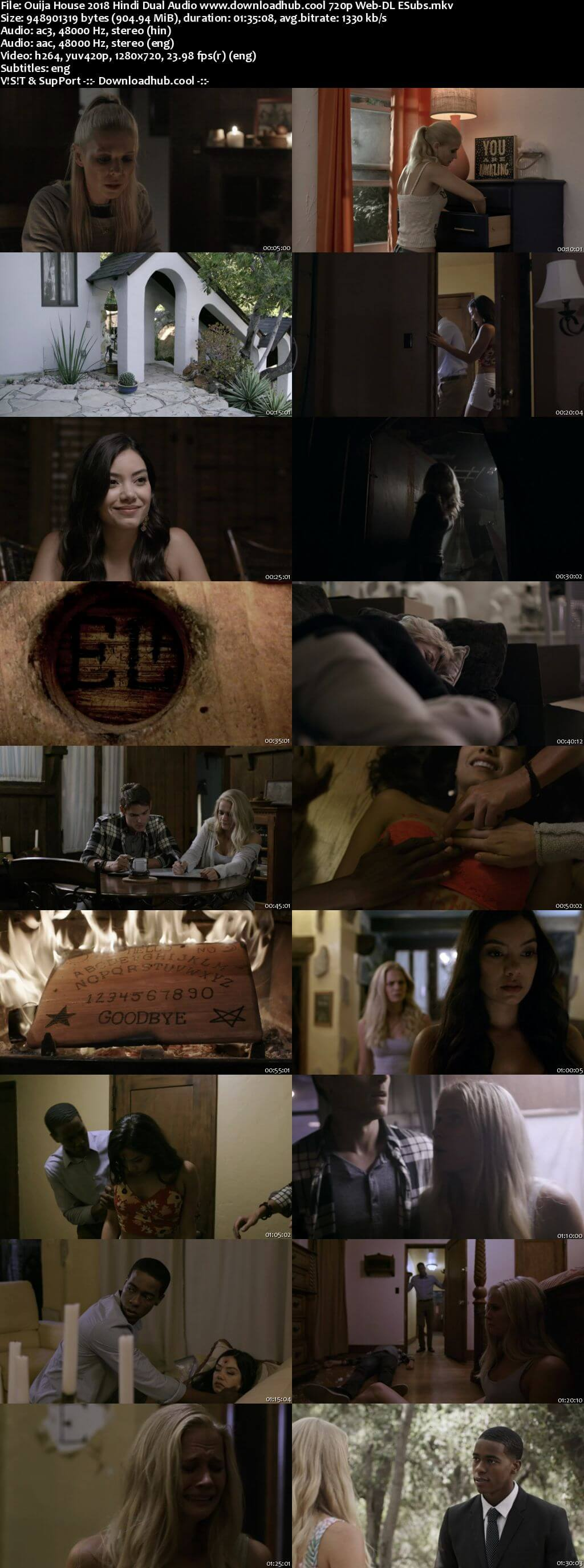 Ouija House 2018 Hindi Dual Audio 720p Web-DL ESubs