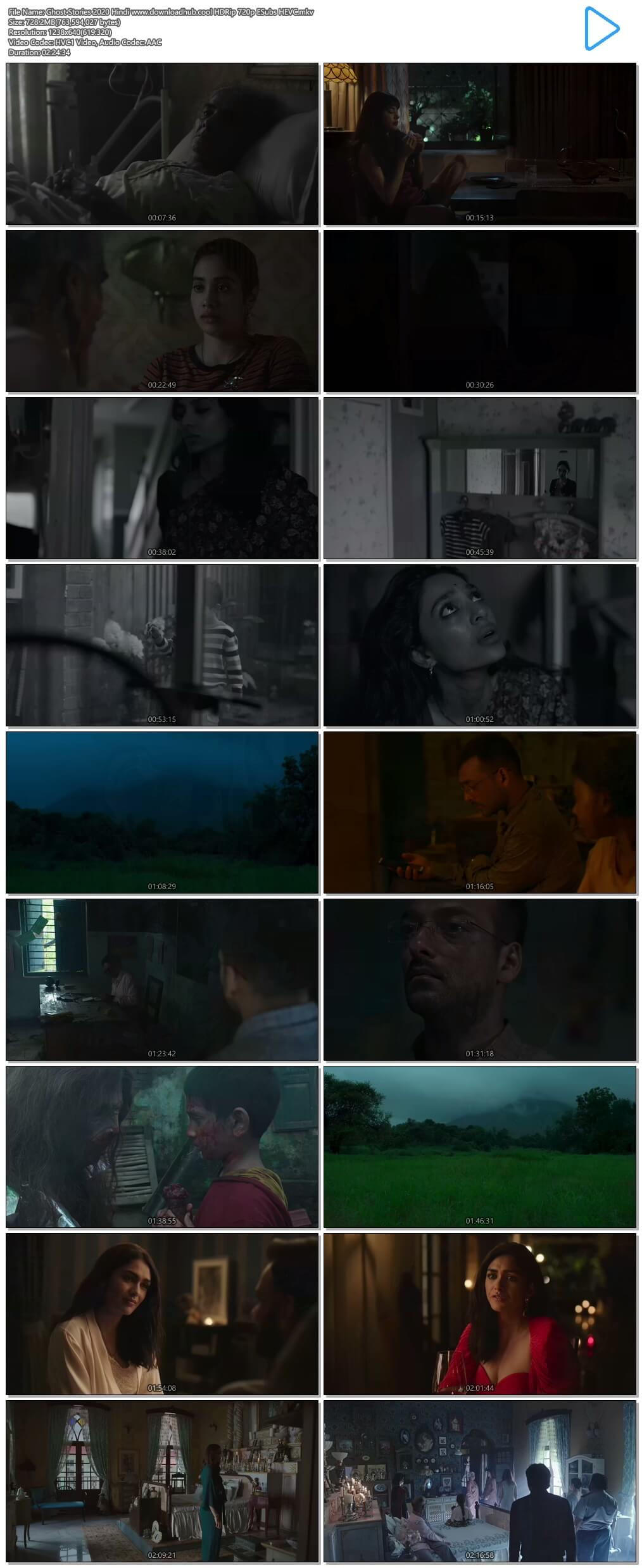 Ghost Stories 2020 Hindi 700MB HDRip 720p ESubs HEVC