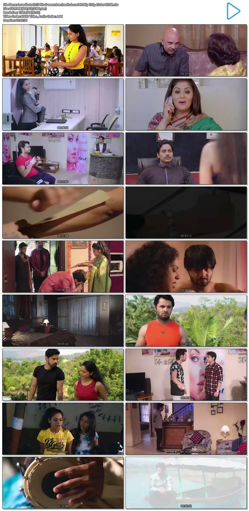 Love Shots 2019 Hindi 550MB HDRip 720p ESubs HEVC