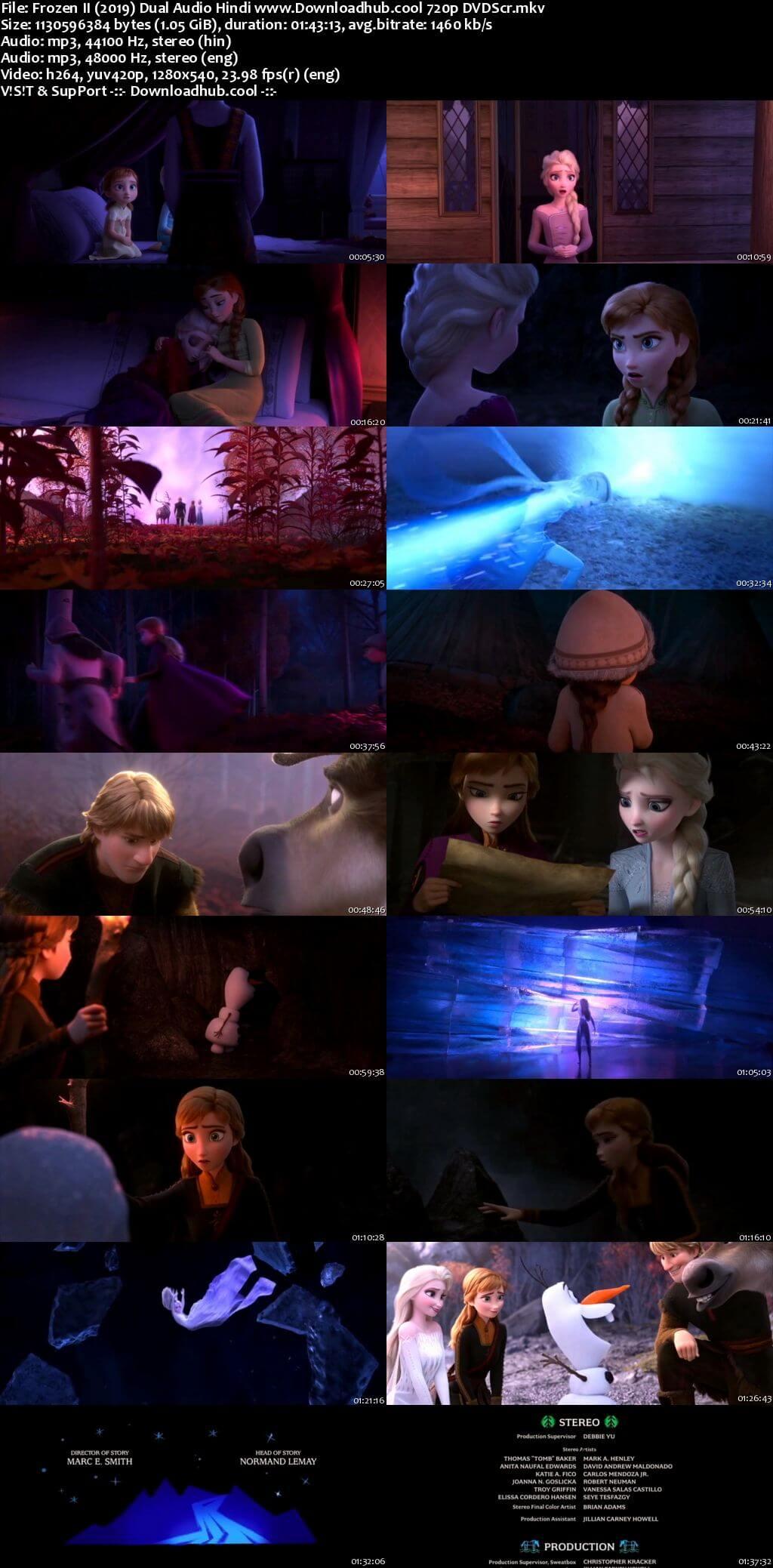 Frozen II 2019 Hindi Dual Audio 720p DVDScr x264