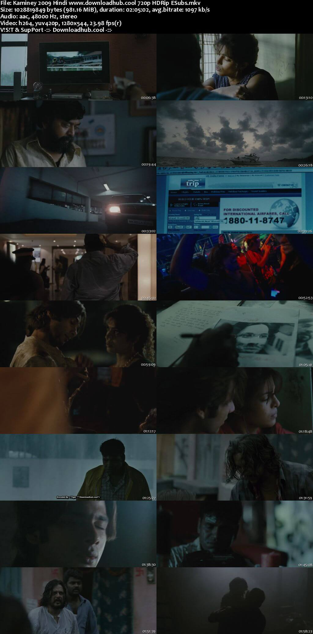 Kaminey 2009 Hindi 720p HDRip ESubs