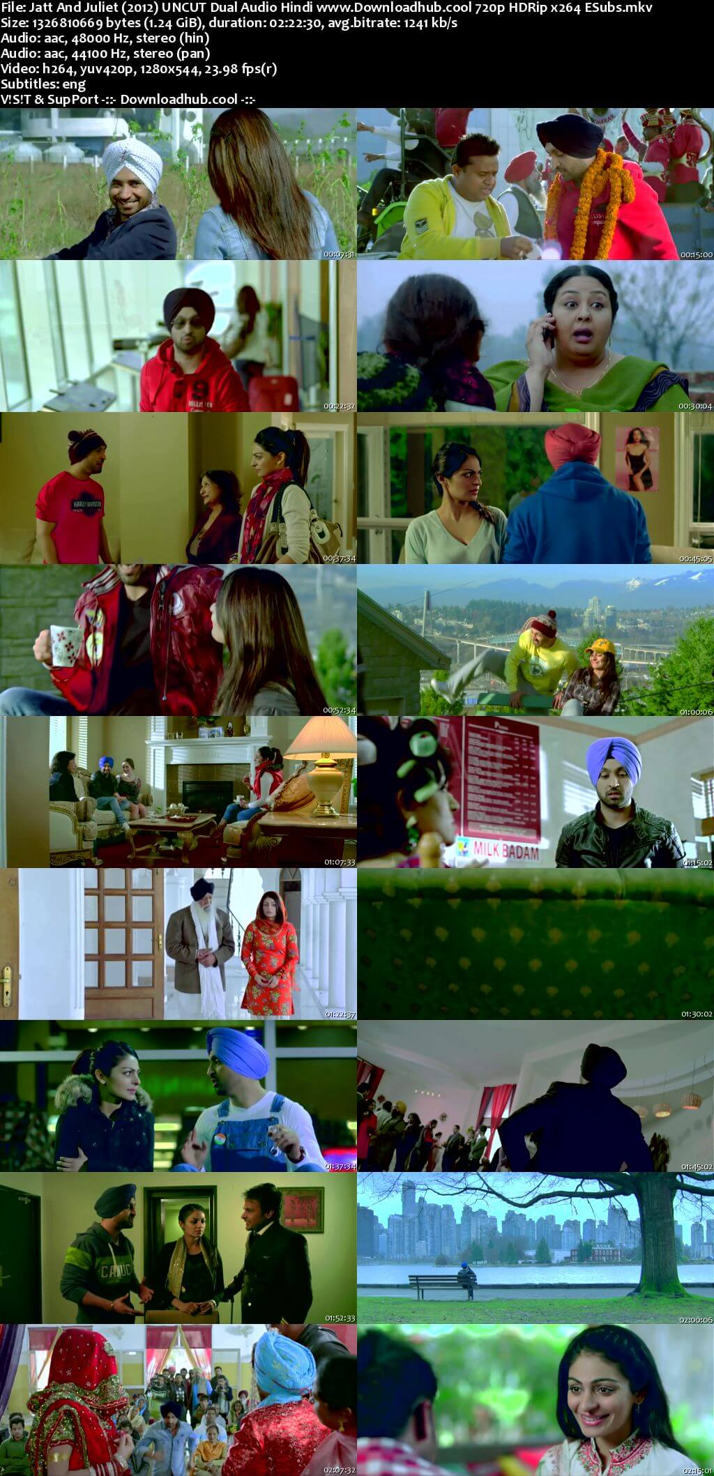 Jatt And Juliet 2012 Hindi Dual Audio 720p UNCUT DVDRip ESubs