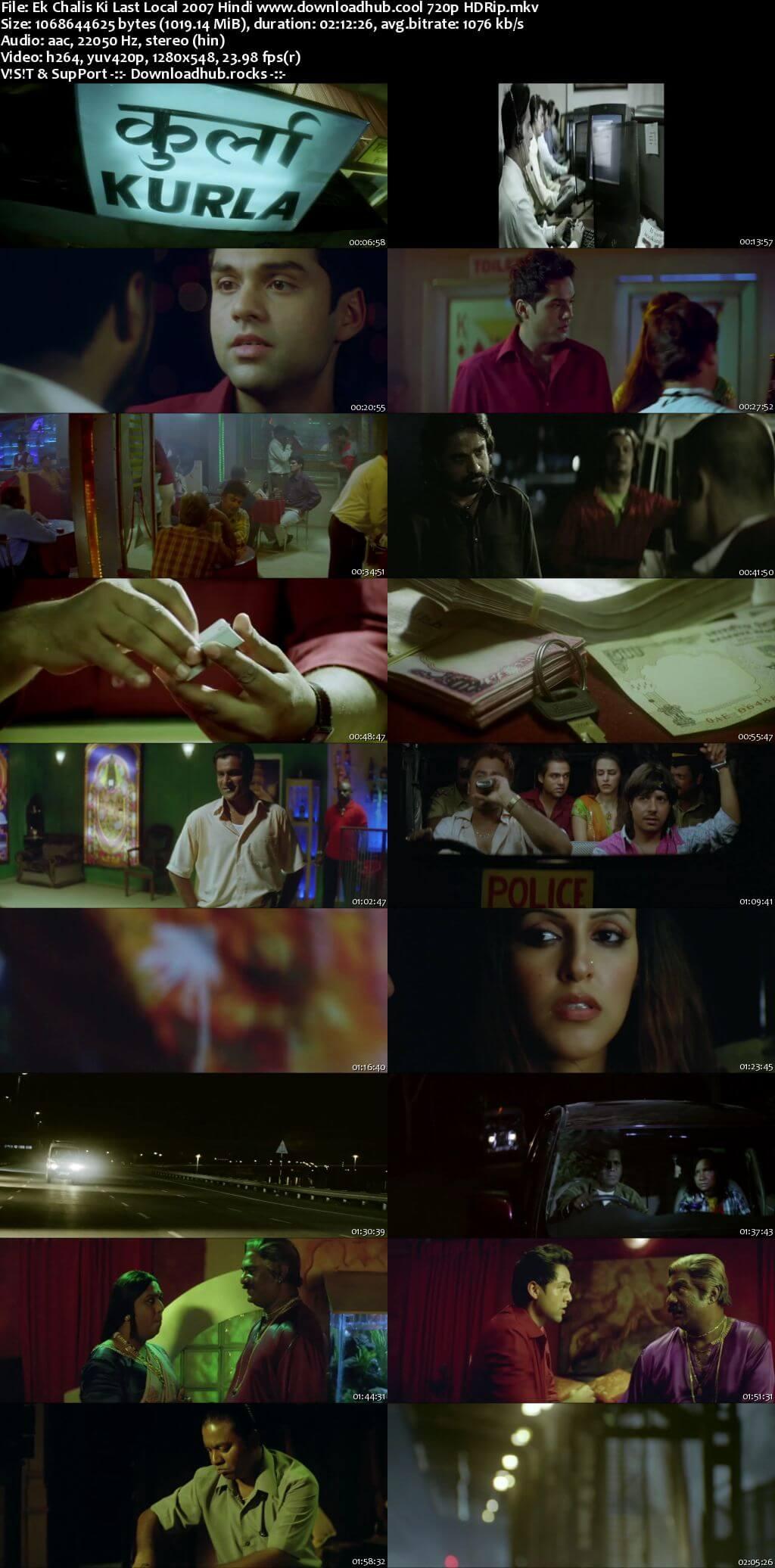 Ek Chalis Ki Last Local 2007 Hindi 720p HDRip x264