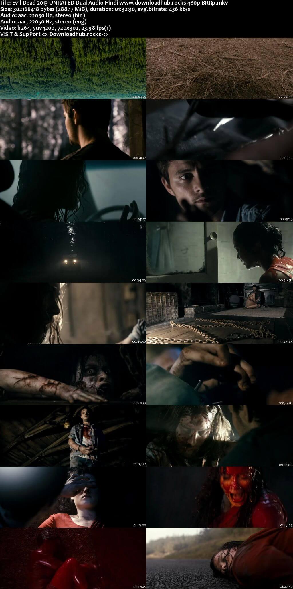 Evil Dead 2013 Hindi Dual Audio 280MB BluRay 480p