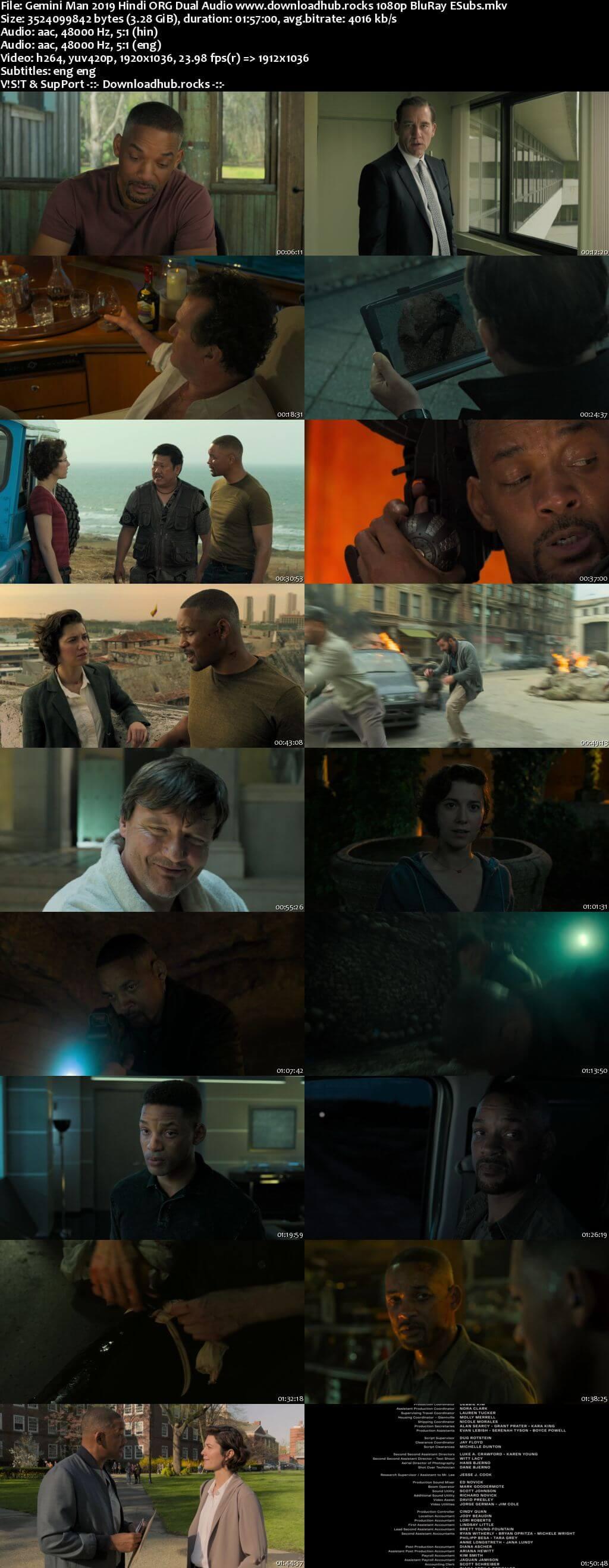 Gemini Man 2019 Hindi ORG Dual Audio 1080p BluRay ESubs