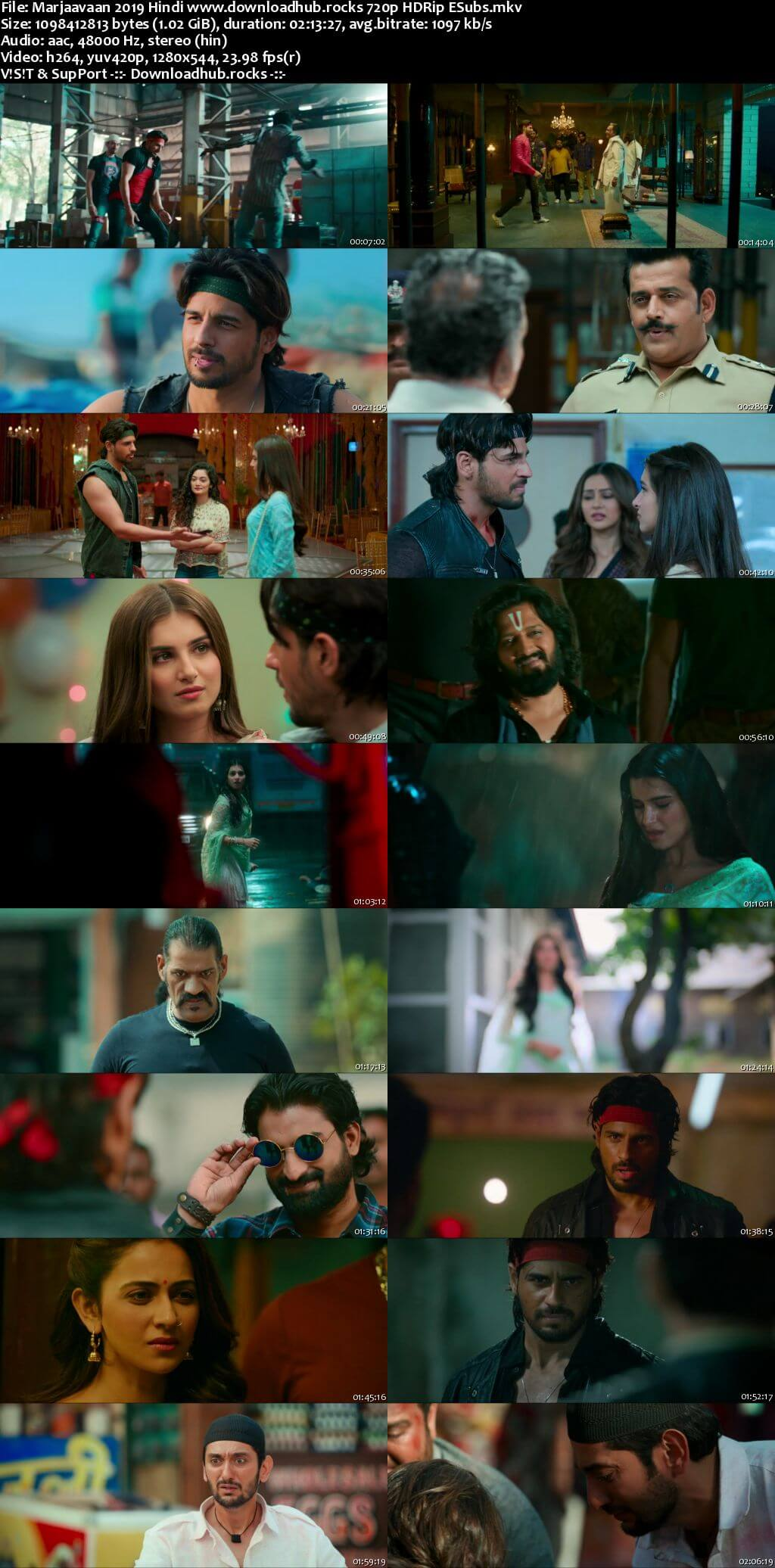 Marjaavaan 2019 Hindi 720p HDRip ESubs