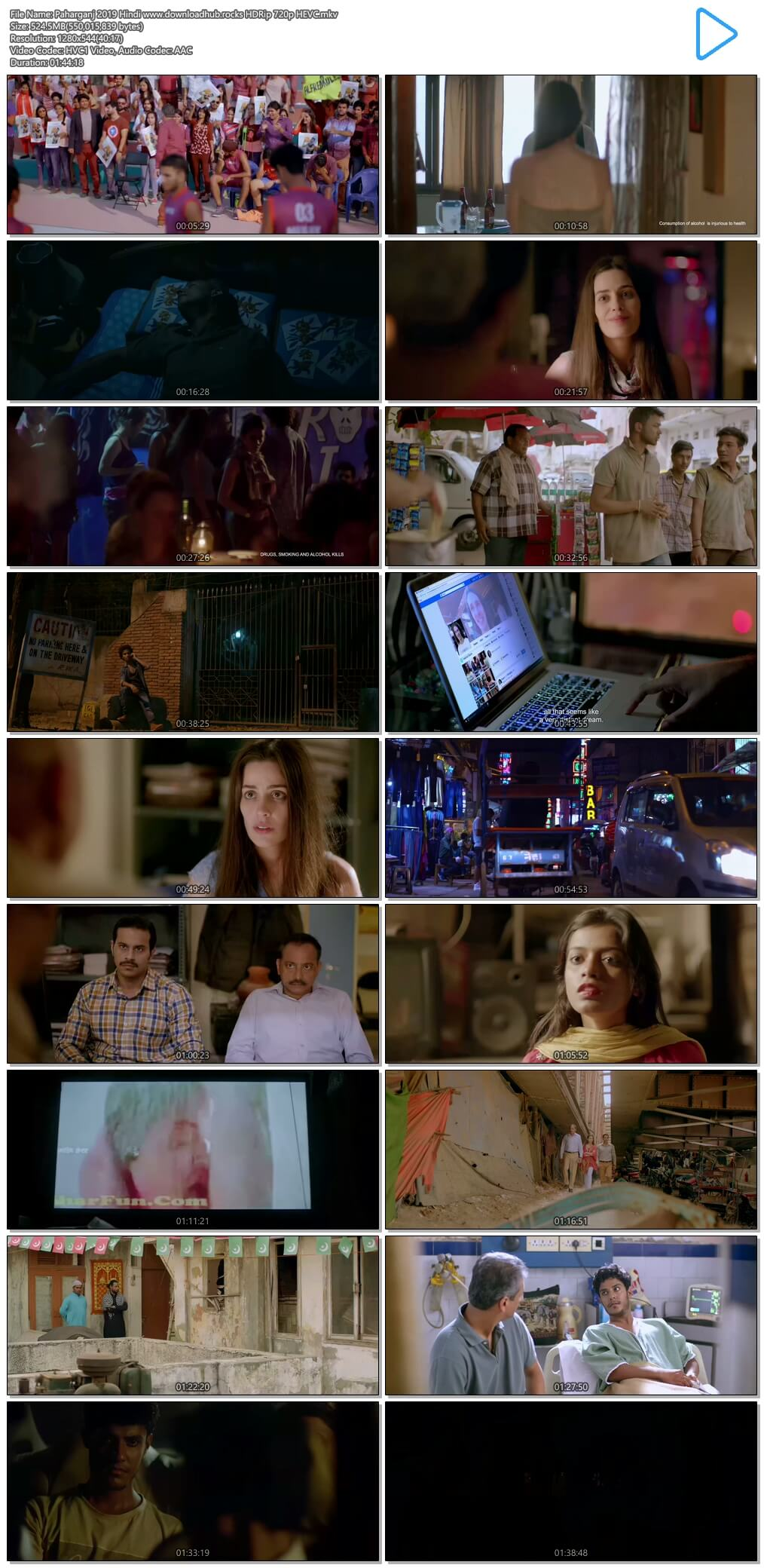 Paharganj 2019 Hindi 500MB HDRip 720p HEVC