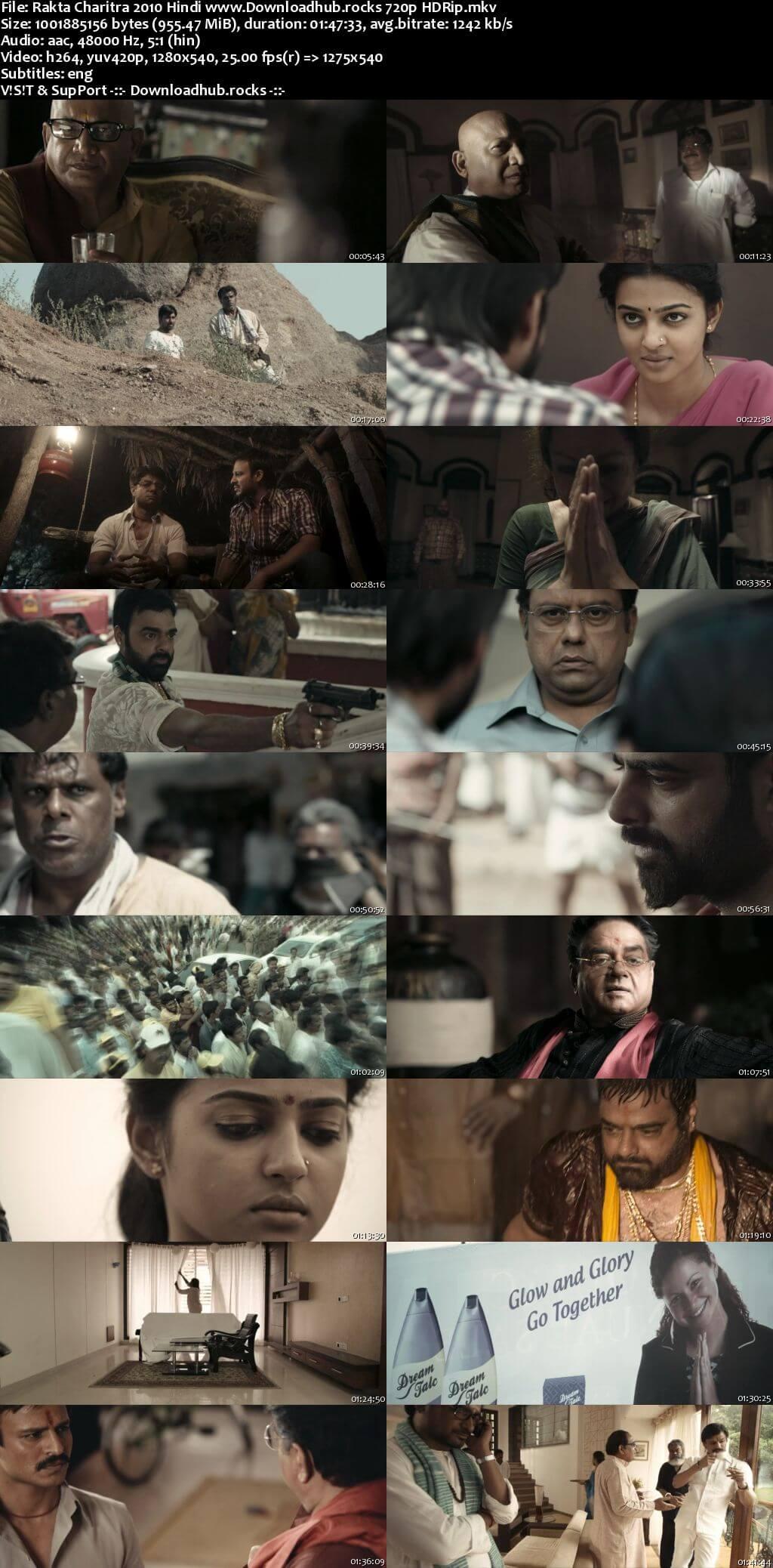 Rakhta Charitra 2010 Hindi 720p HDRip ESubs