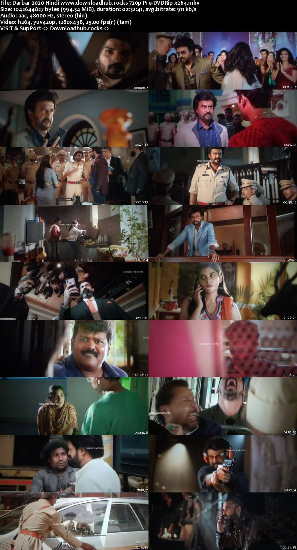 Darbar 2020 Hindi 720p 480p Pre-DVDRip x264