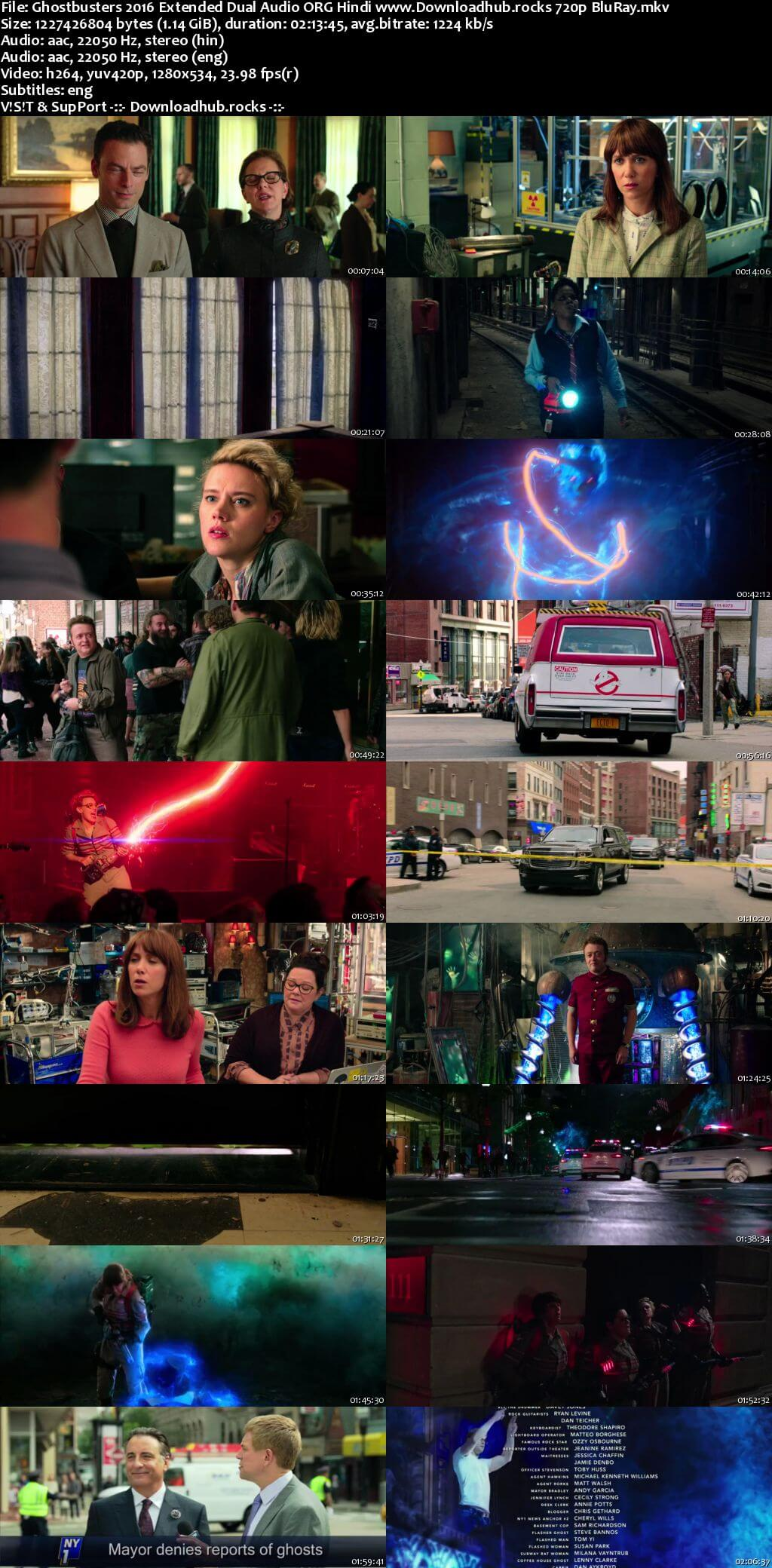 Ghostbusters 2016 Hindi Dual Audio 720p EXTENDED BluRay ESubs
