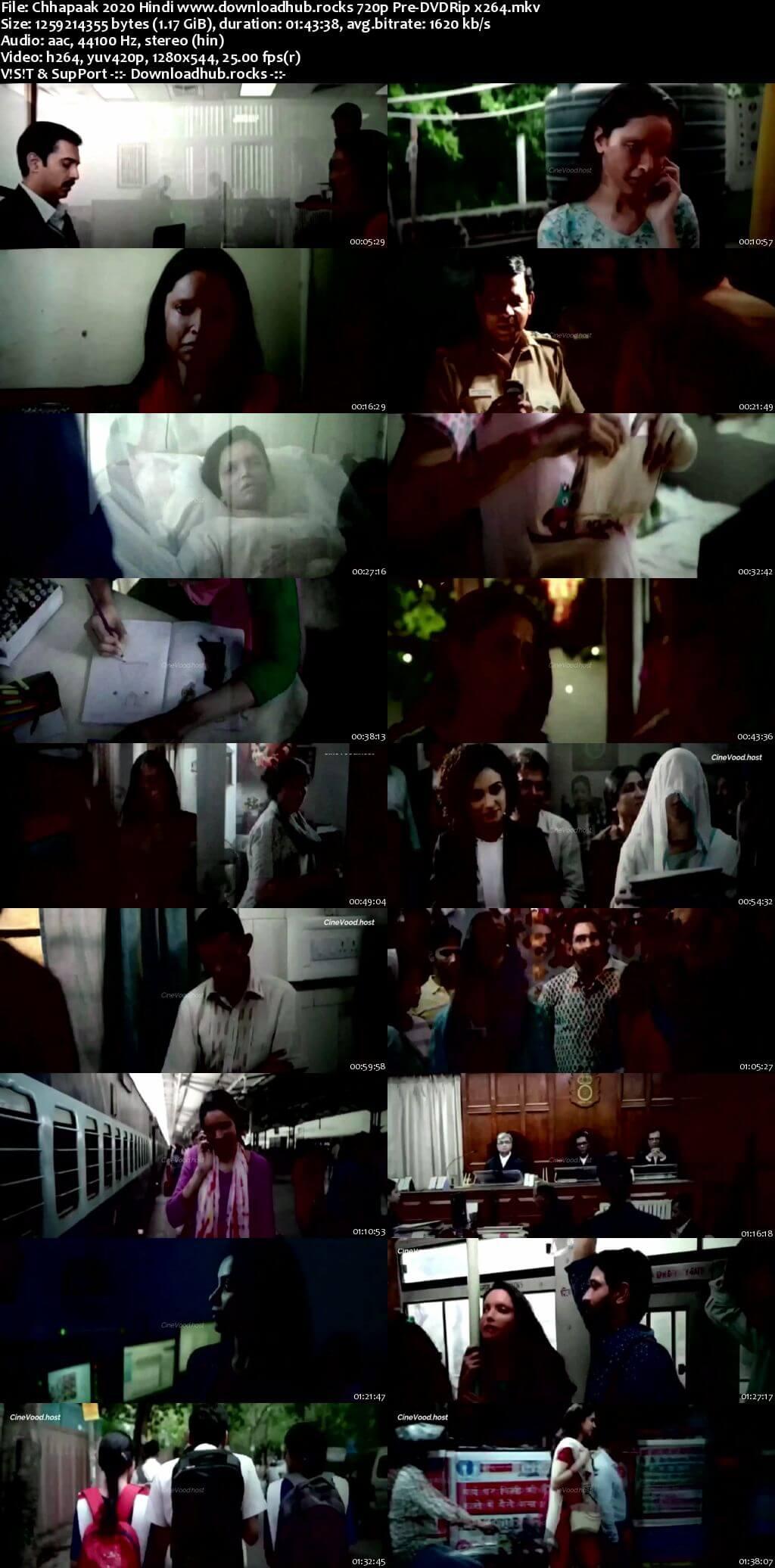Chhapaak 2020 Hindi 720p 480p Pre-DVDRip x264