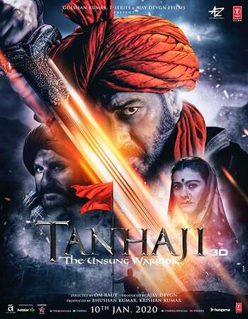 Tanhaji The Unsung Warrior 2020 Hindi 720p 480p Pre-DVDRip x264