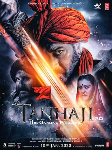 Tanhaji The Unsung Warrior 2020 Hindi 720p 480p pDVDRip
