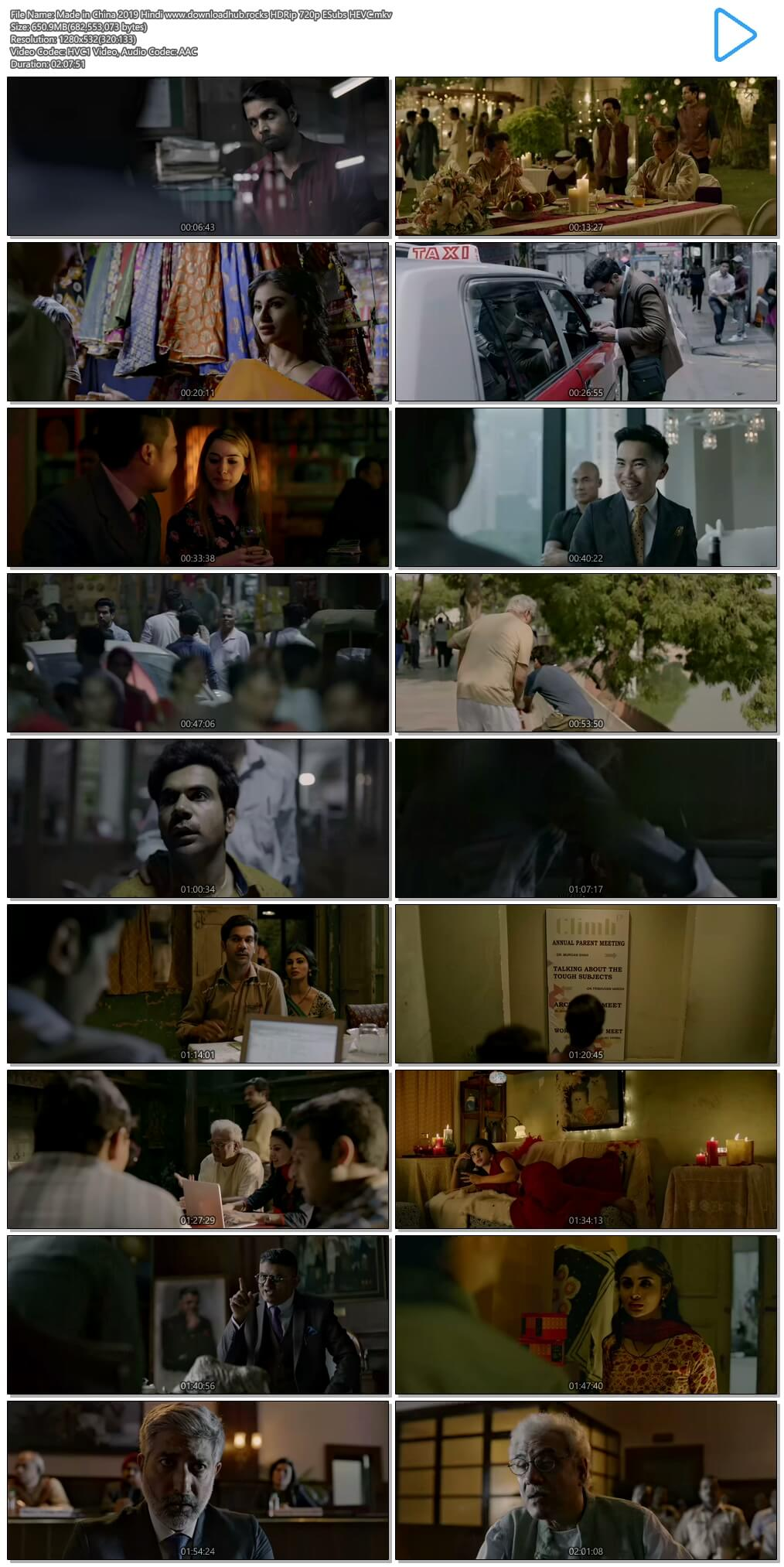 Made in China 2019 Hindi 650MB HDRip 720p ESubs HEVC