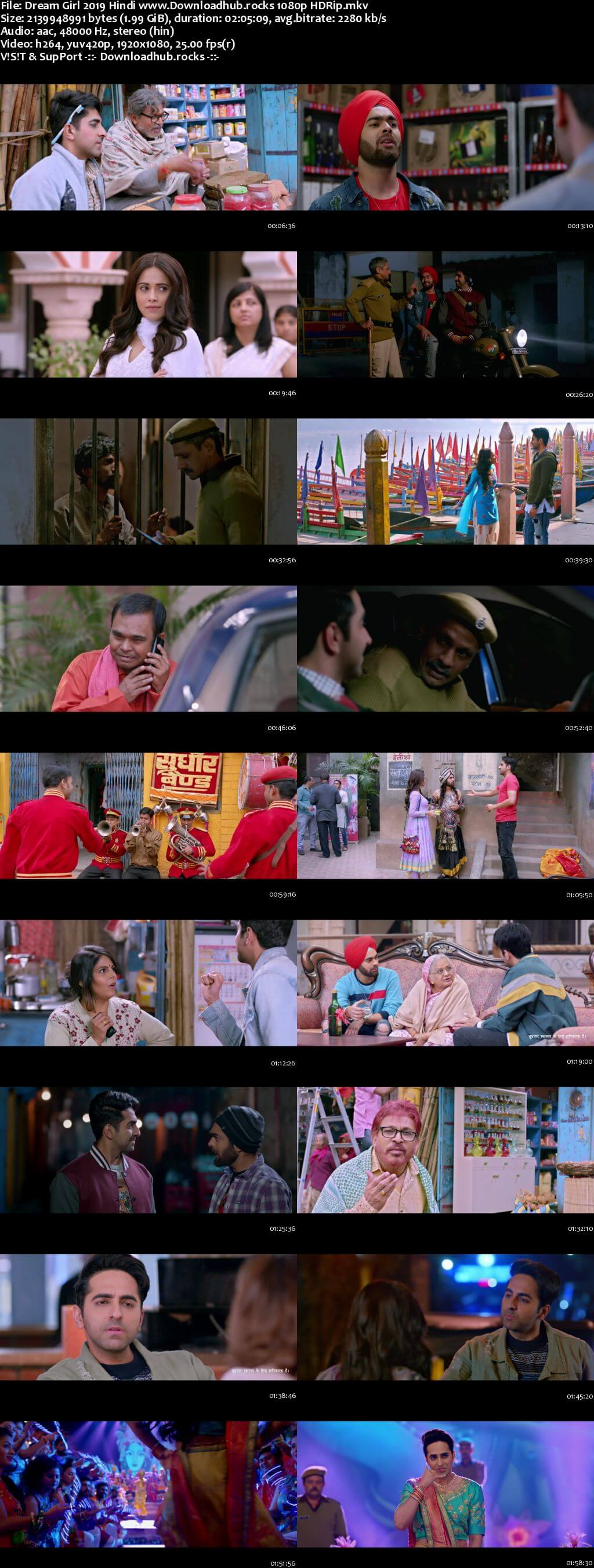 Dream Girl 2019 Hindi 1080p HDRip x264