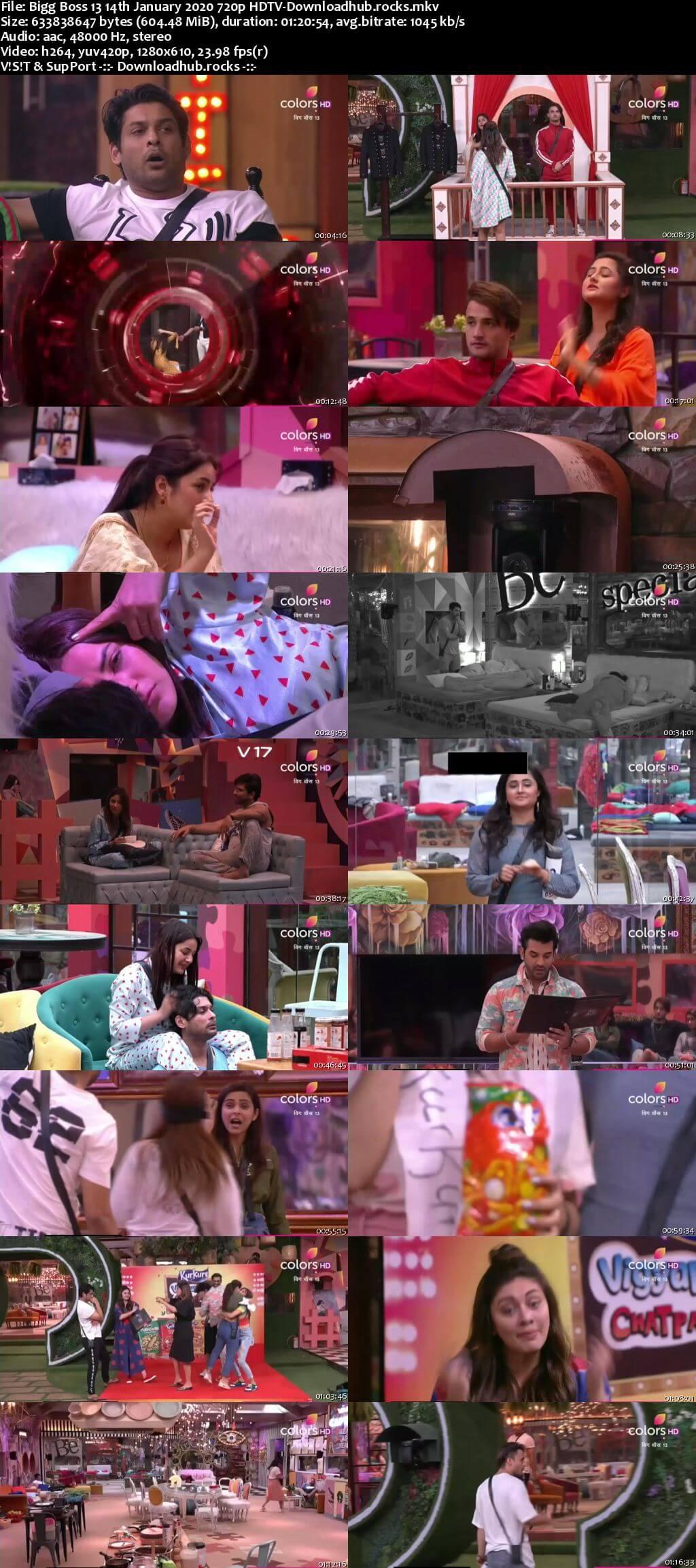 Bigg Boss 13 14 January 2020 Episode 106 HDTV 720p 480p