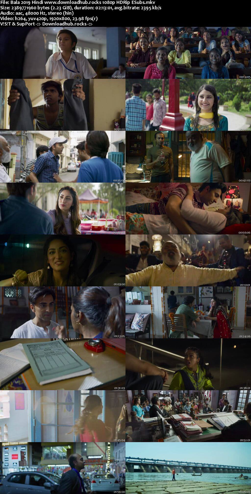 Bala 2019 Hindi 1080p HDRip ESubs