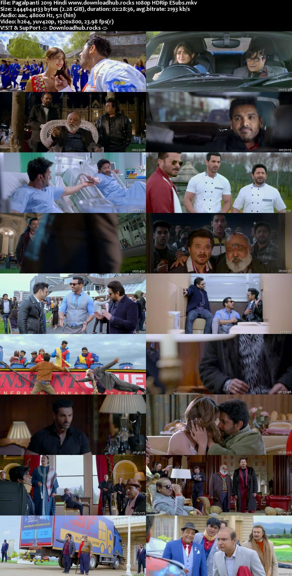 Pagalpanti 2019 Hindi 1080p HDRip ESubs