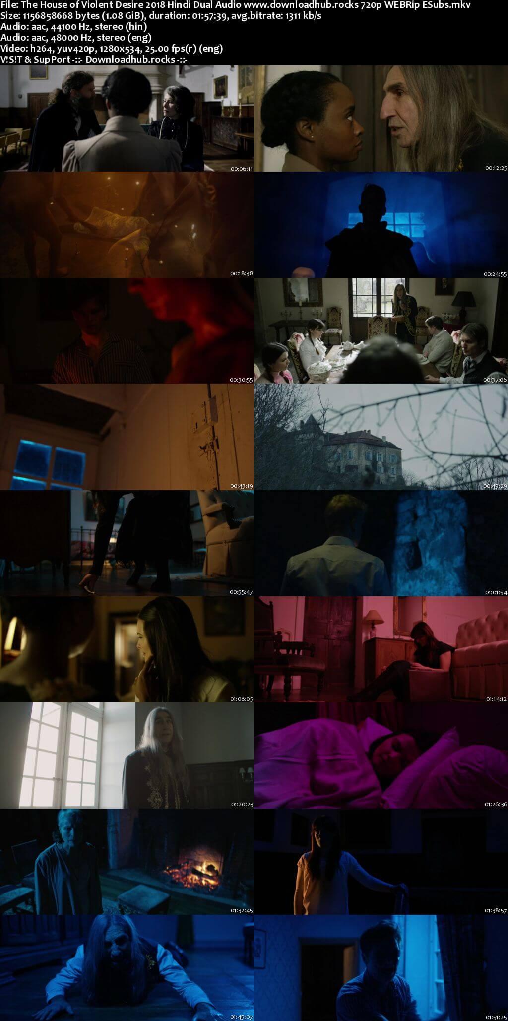 The House of Violent Desire 2018 Hindi Dual Audio 720p WEBRip ESubs
