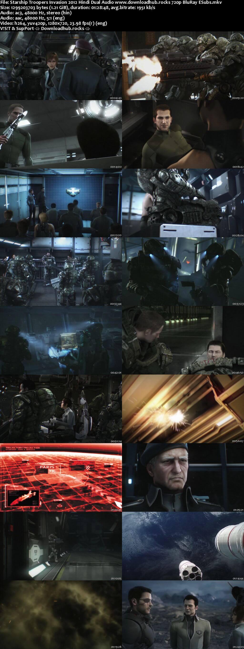 Starship Troopers Invasion 2012 Hindi Dual Audio 720p BluRay ESubs