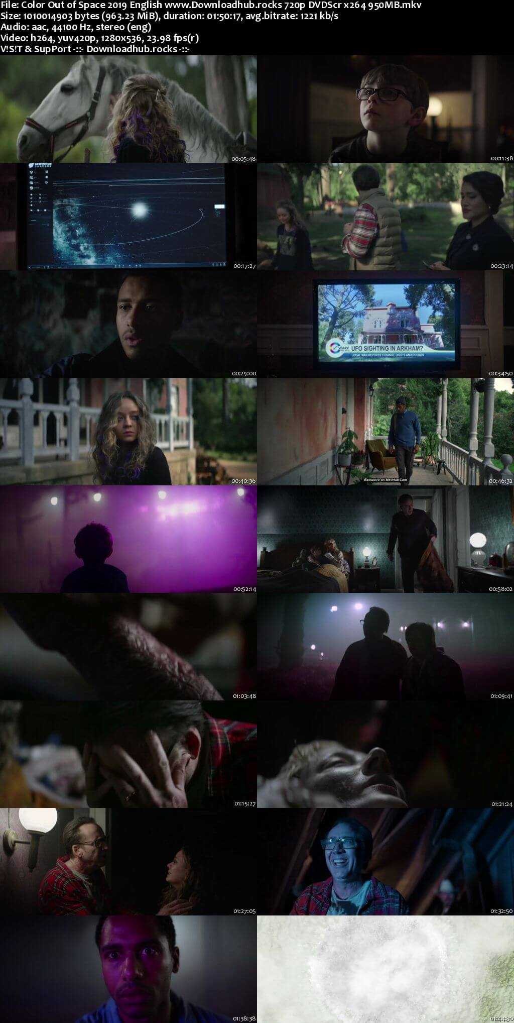 Color Out of Space 2019 English 720p DVDScr 950MB